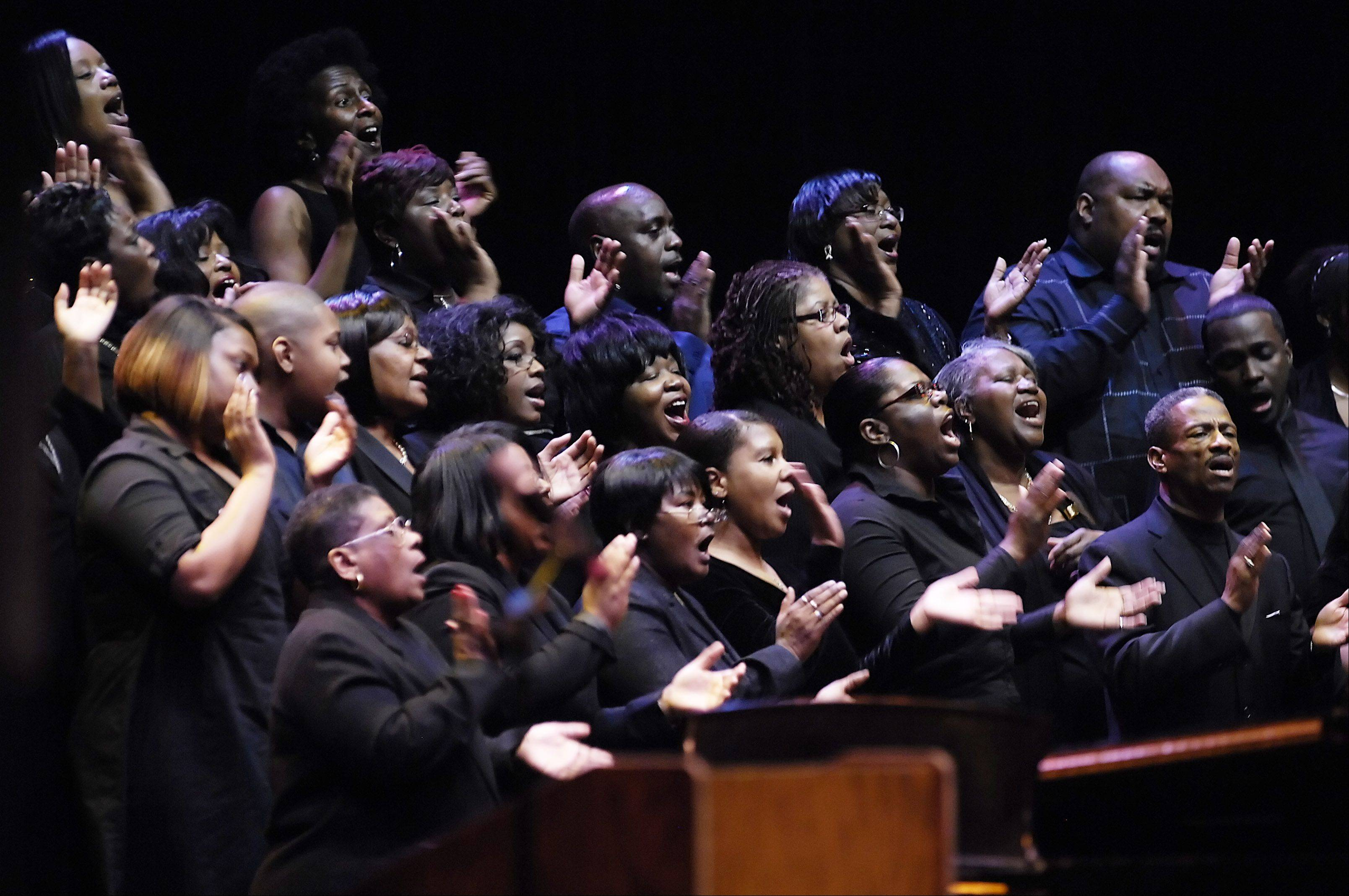 The Martin Luther King Community Choir performed in 2010 at the Hemmens Cultural Center in Elgin. The annual celebration is sponsored by the Elgin's Human Relations Commission.