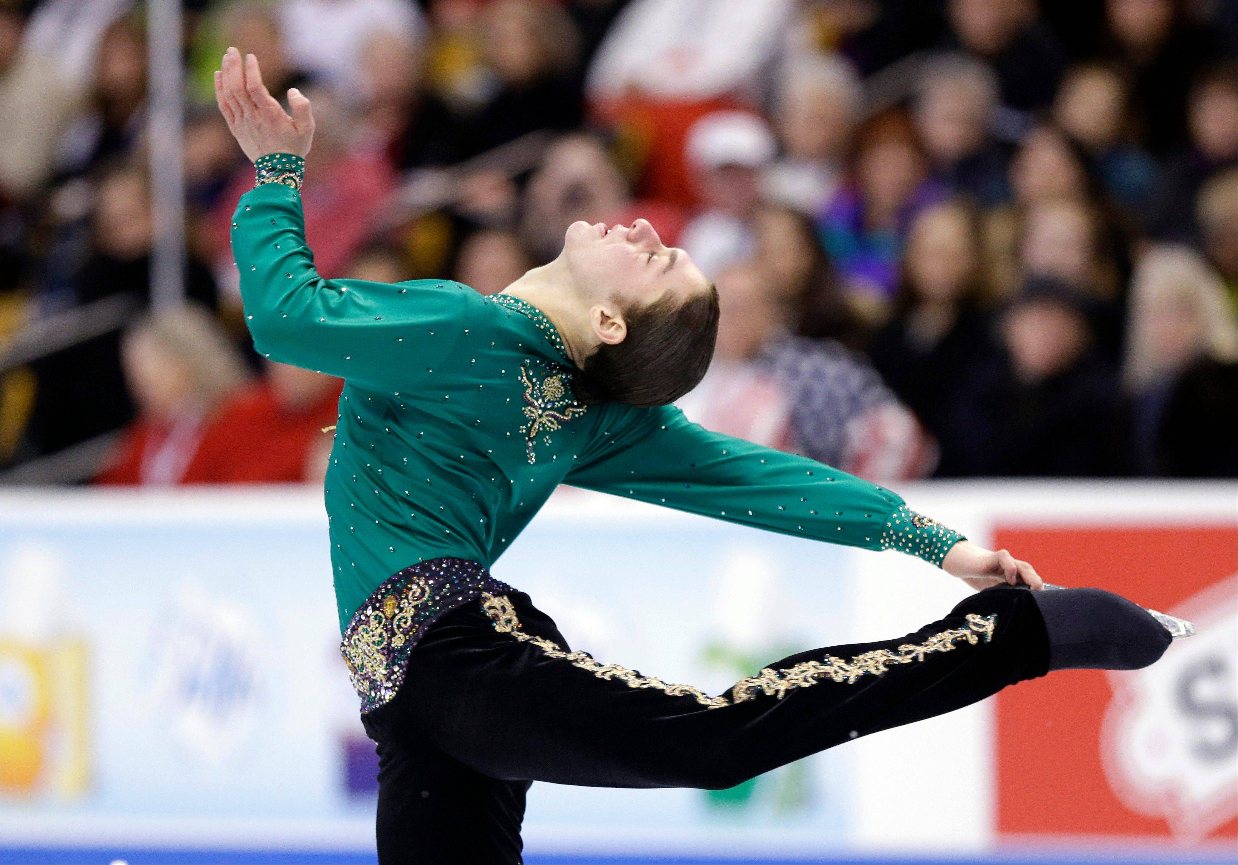 Jason Brown of Highland Park skated to Irish stepdance music Sunday at the U.S. Figure Skating Championships.