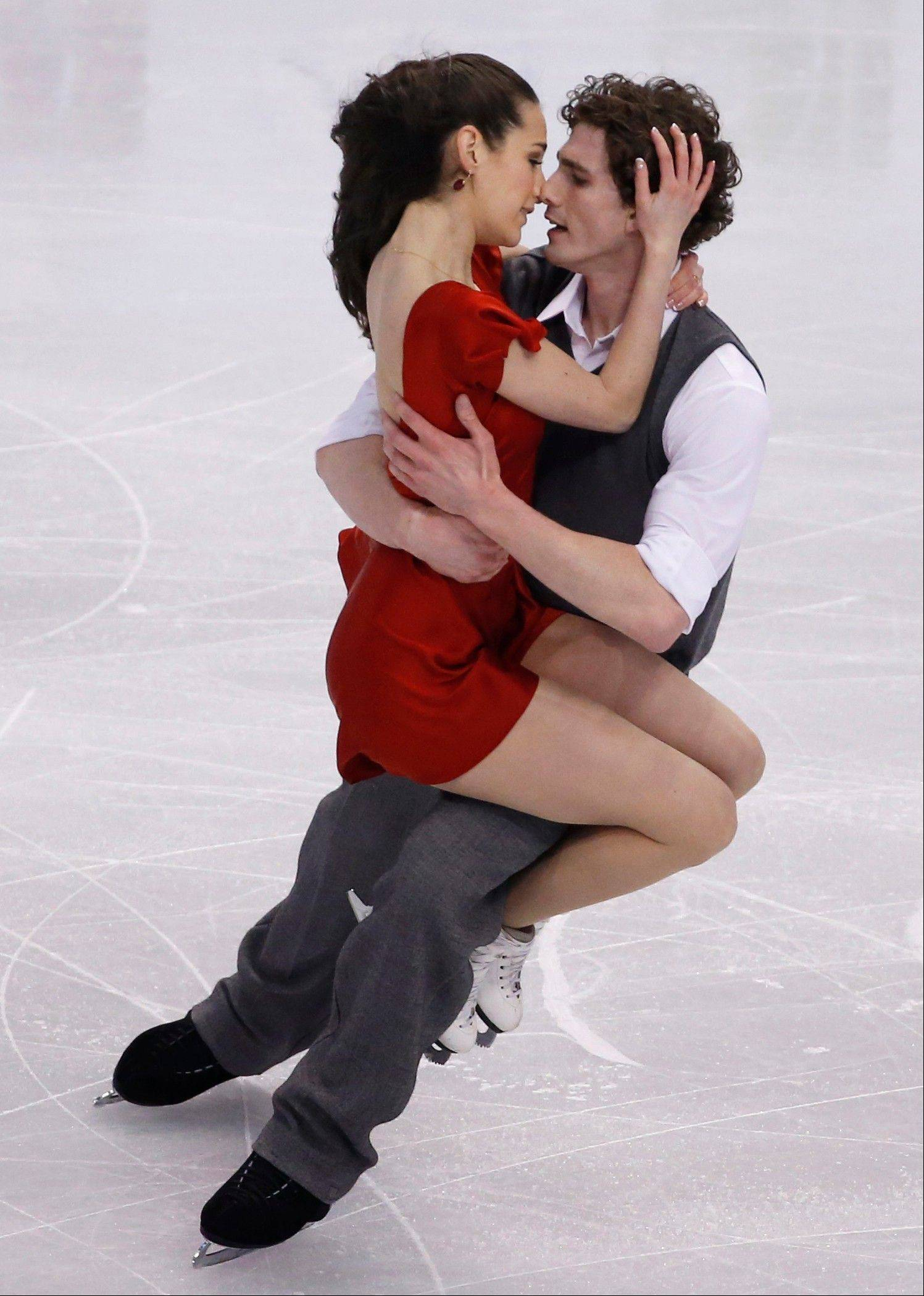Alissandra Aronow and Collin Brubaker of Algonquin compete during the ice dance free skate at the U.S. Figure Skating Championships in Boston. They finished ninth overall.