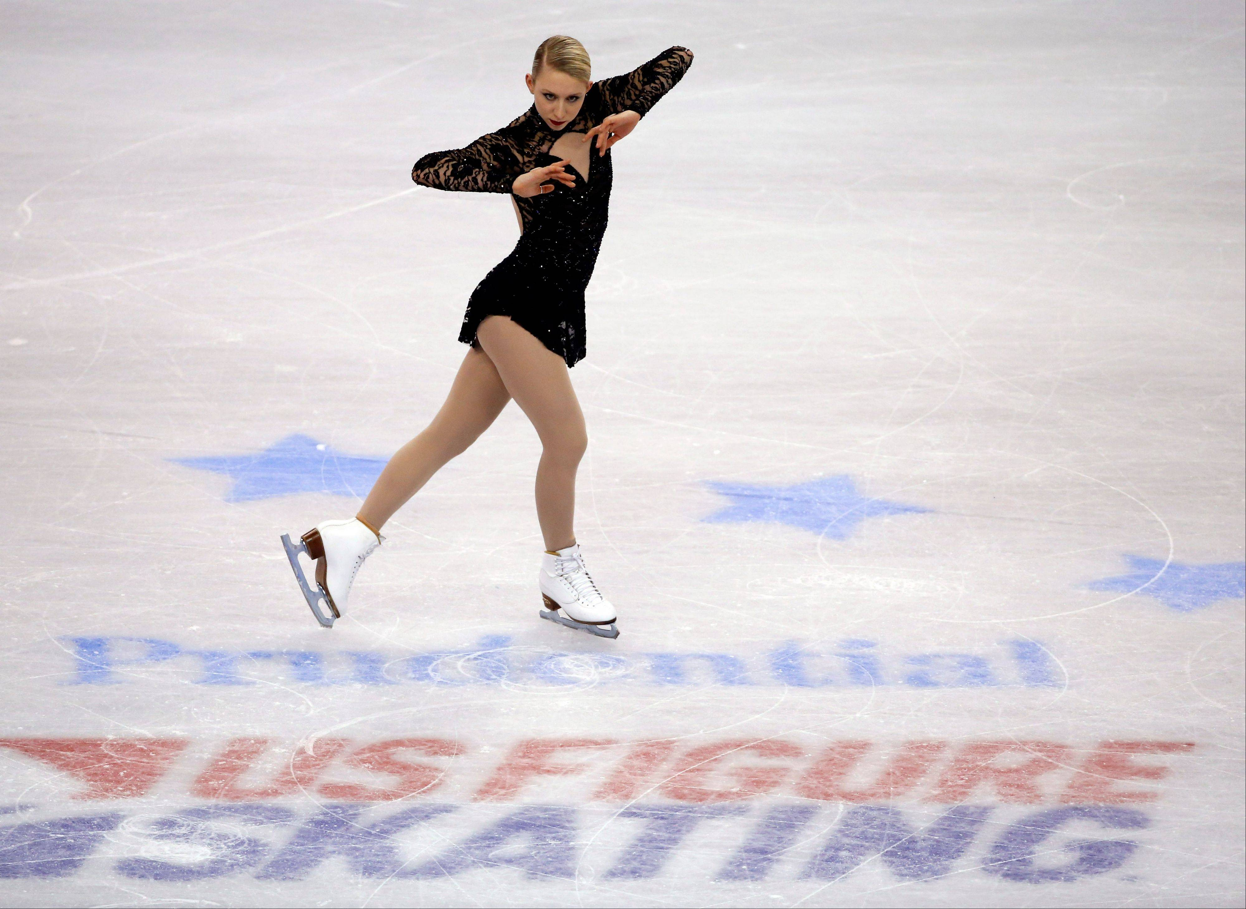 Agnes Zawadzki was in 13th position heading into the women's free skate at the U.S. Figure Skating Championships in Boston on Saturday.