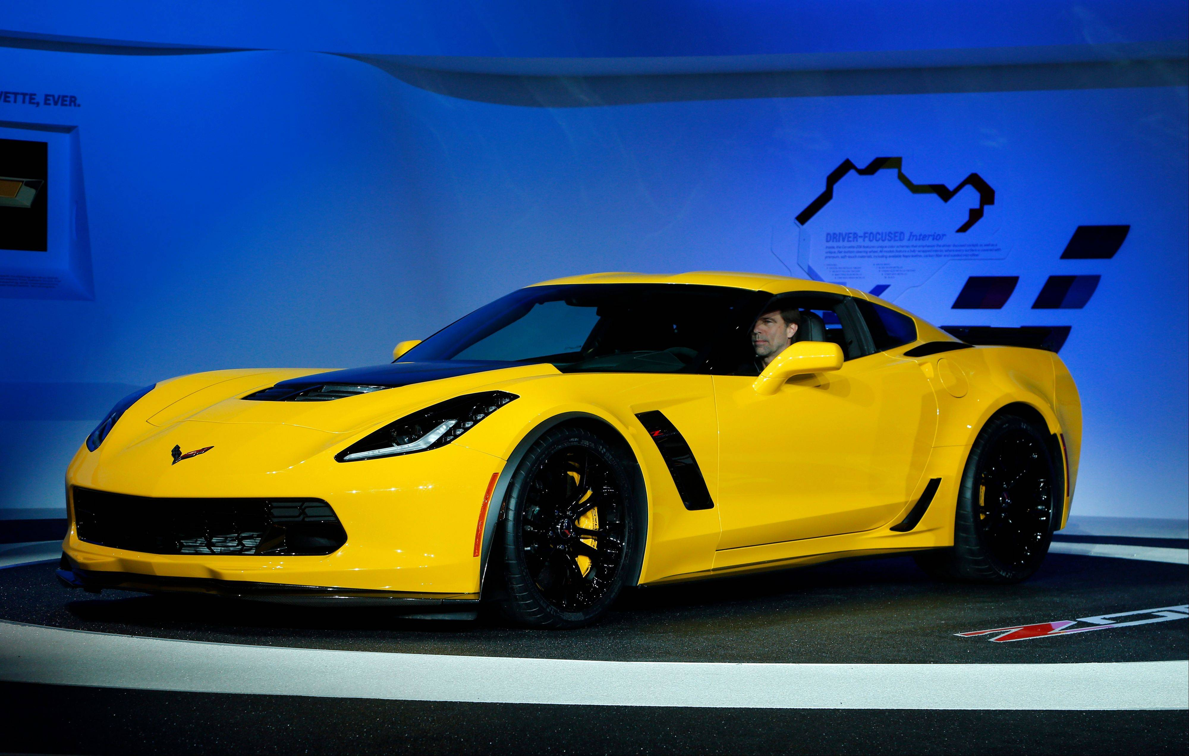 The 2015 Chevrolet Corvette Z06 debuts at media previews during the North American International Auto Show in Detroit Monday. The Corvette Stingray received the car of the year award.