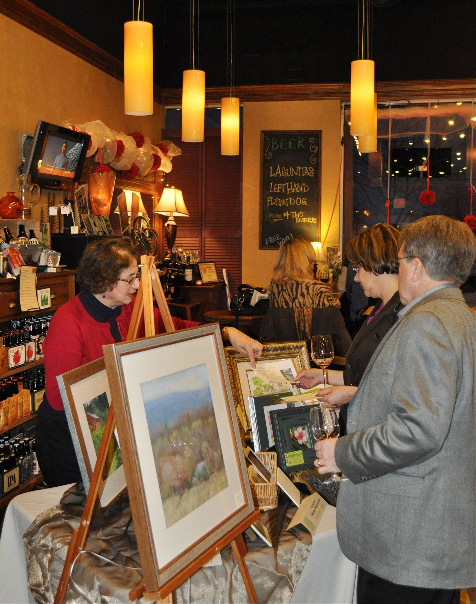 Gibby's Wine Den in Geneva is seeking submissions for its upcoming Bacchus Greets the Arts event. Artists who would like to display and sell their artwork can contact Gibby's to participate in the March 14 event, which is in its eighth year.