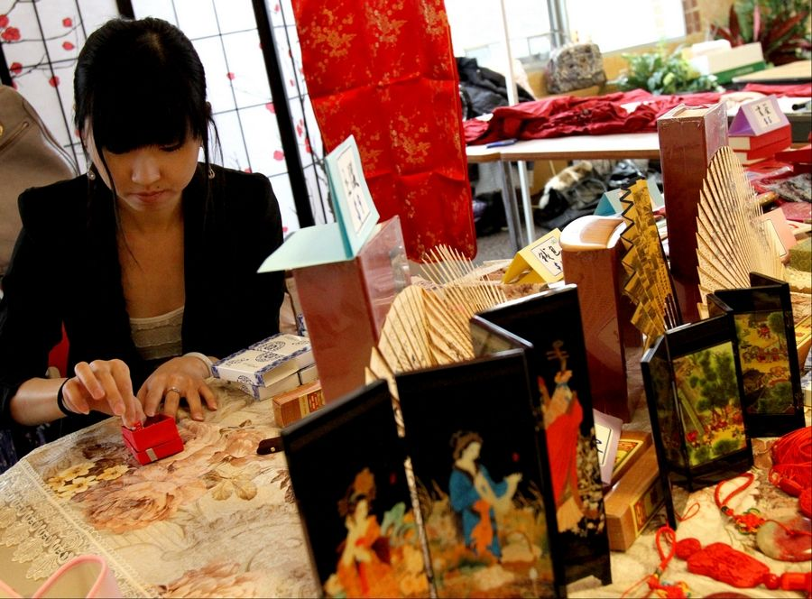 Benedictine University's Festival of Asia marks the Chinese New Year with a cultural celebration that includes an Asian-style market with clothing, jewelry, art and more.