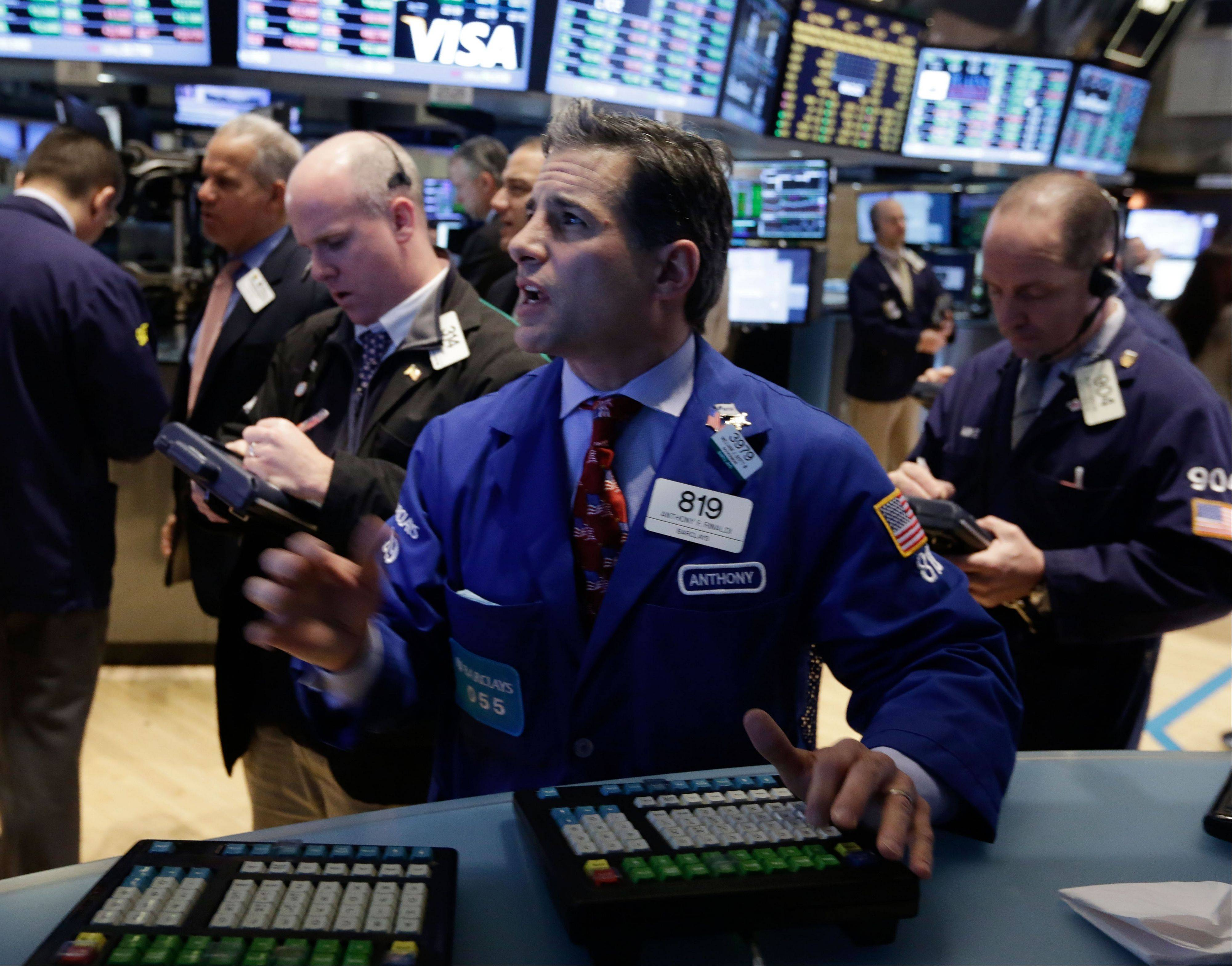 U.S. stocks rose Wednesday, giving the Standard & Poor�s 500 Index its biggest gain of the year, as better-than-forecast retail sales and corporate merger activity signaled confidence in the economy.