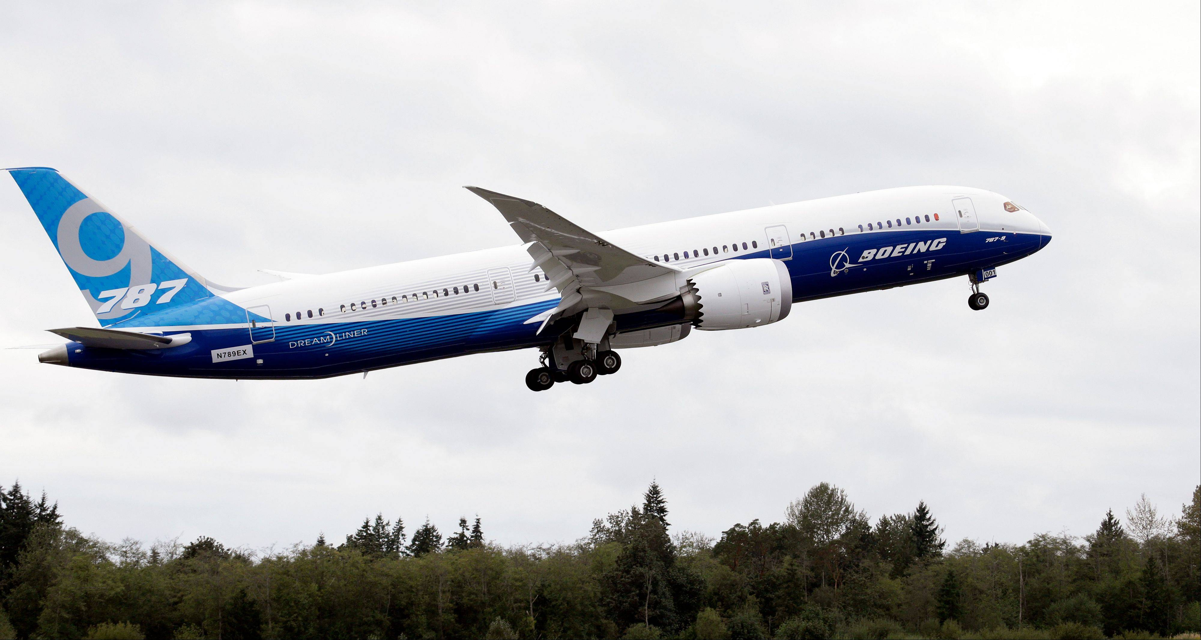 ASSOCIATED PRESS Battery problems resurfaced on Boeing�s 787, like the plane shown here, on Tuesday, after gas was discovered coming out of a battery on a plane parked in Tokyo.