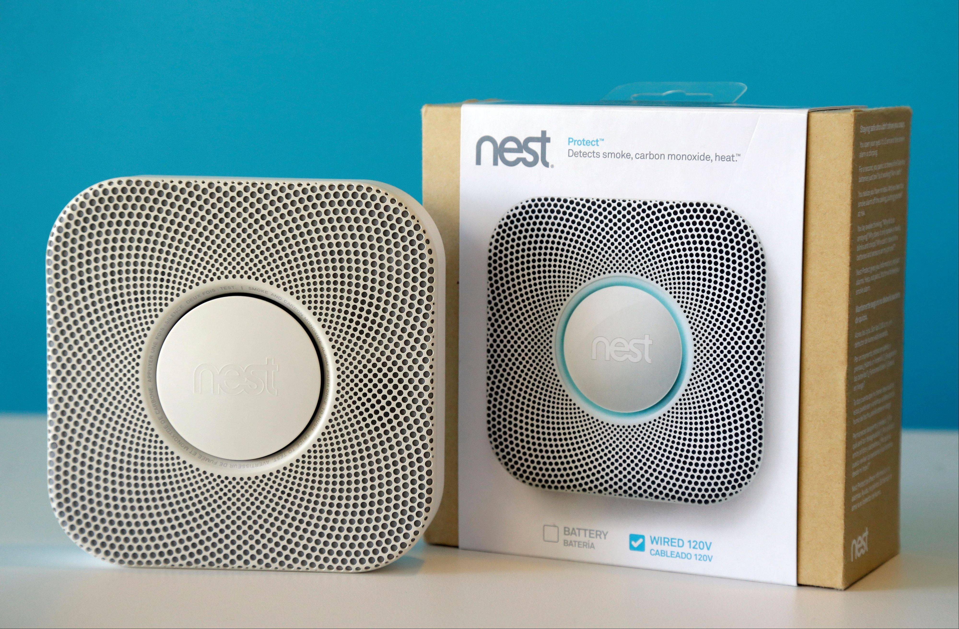 The Nest smoke and carbon monoxide alarm at the company's offices, in Palo Alto, Calif.