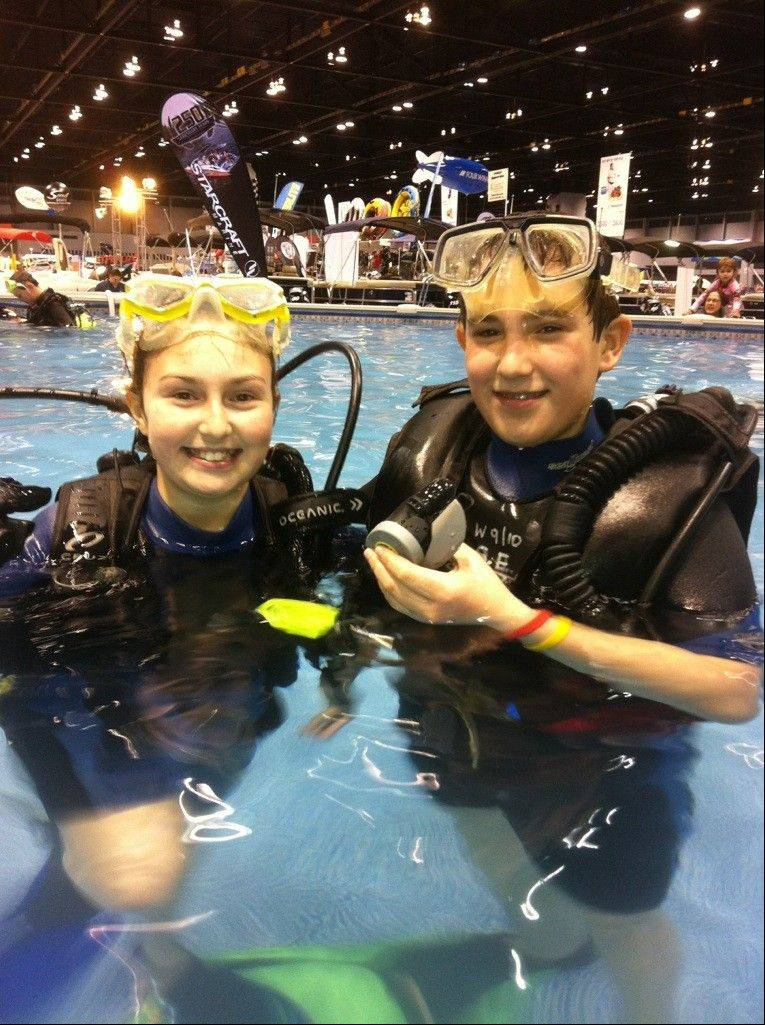 Guests can learn to scuba dive at the Chicago Boat, Sports & RV Show.