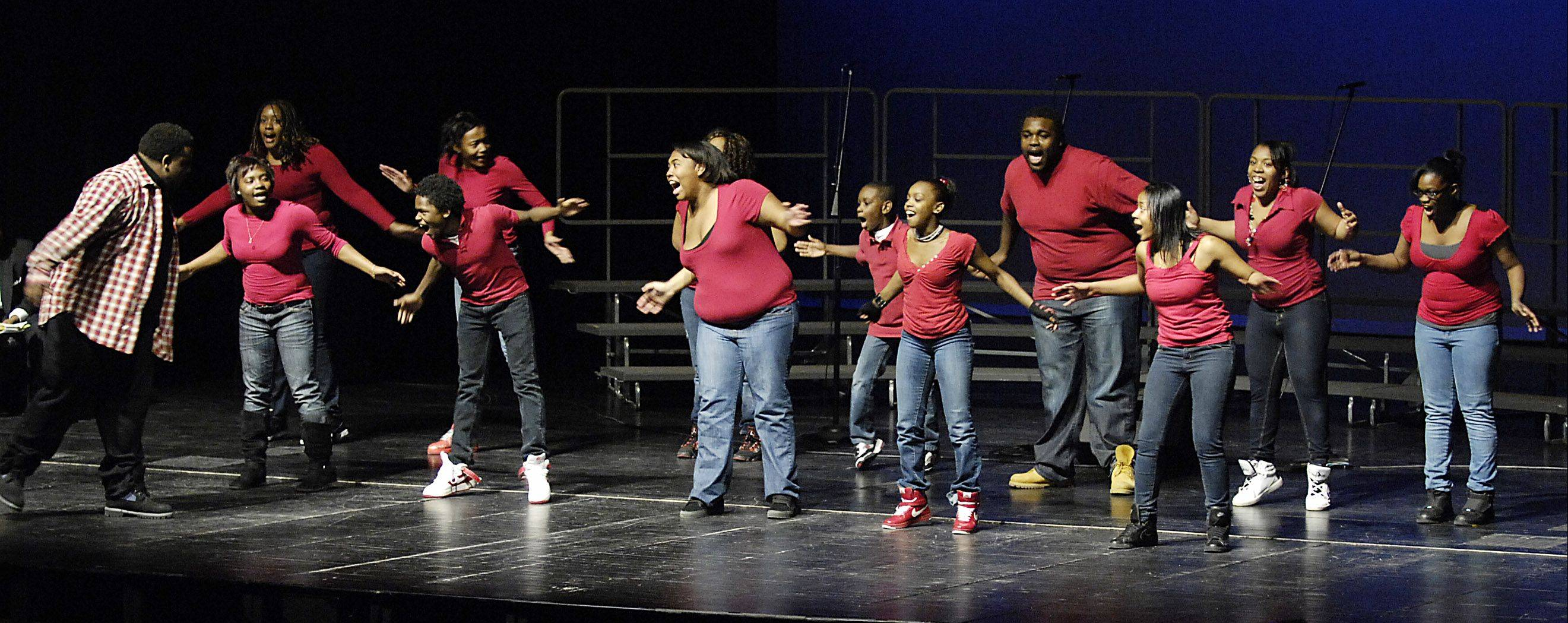 The Citywide Drill Team performs at a previous Martin Luther King Jr. celebration at the Hemmens Cultural Center in Elgin. This Sunday, the city will hold an MLK celebration at 4 p.m. at the Hemmens.