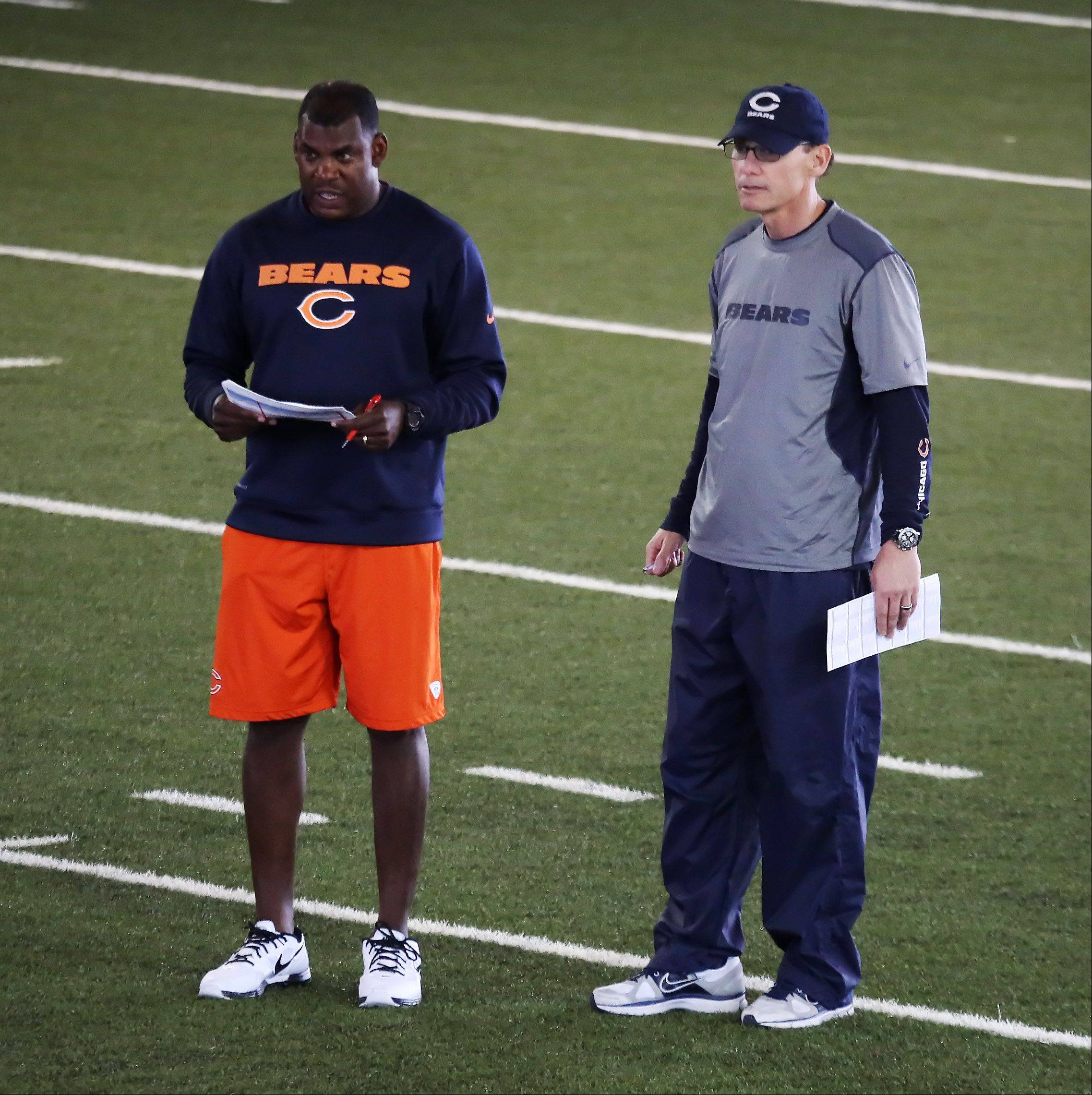 Bears head coach Marc Trestman, right, and defensive coordinator Mel Tucker have a lot of issues to fix before next season begins.