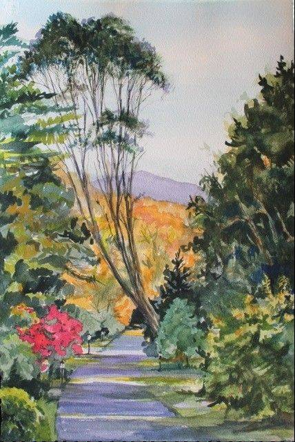 "Watercolor ""Path to Dunloe Castle, Ireland"" by Laurel Fredericks of Lake Villa is one of the works that will be on display at the College of Lake County's Members Exhibition."