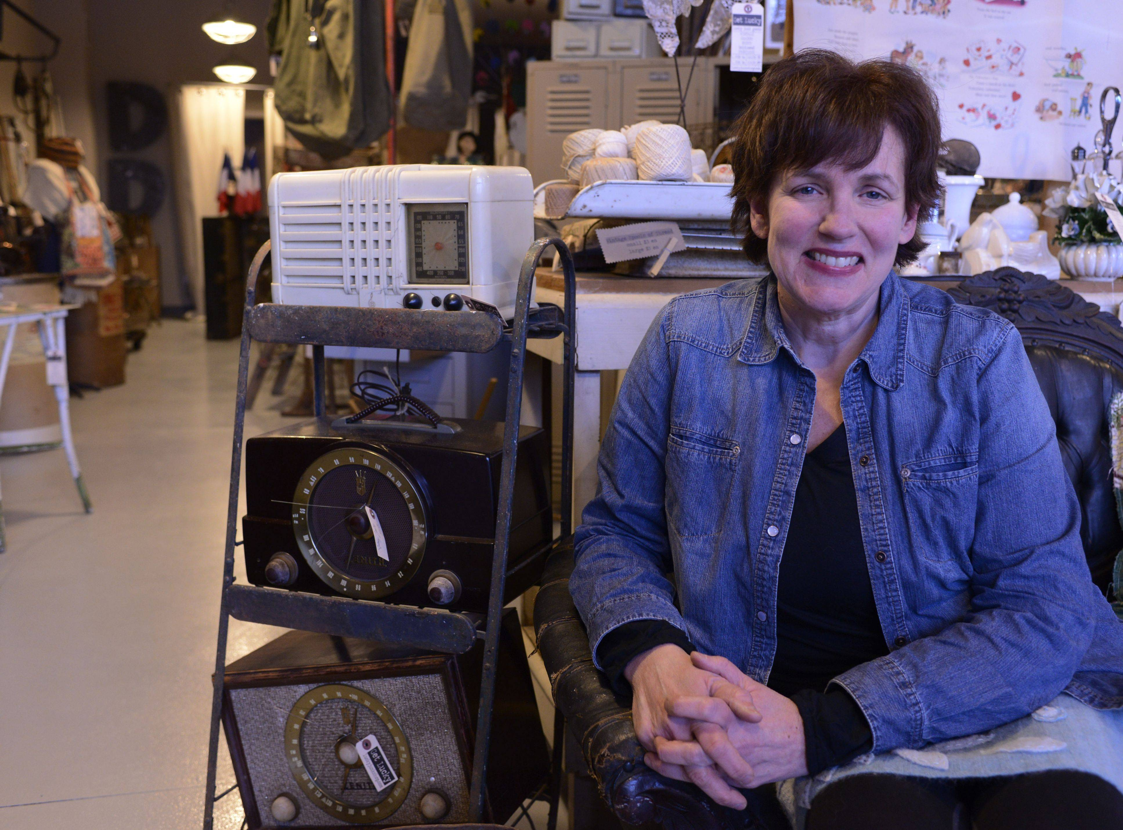 Janet McCarthy is owner of Lucky Junk, a store specializing in vintage items that is opening at 405 S. Arlington Heights Road in Arlington Heights.