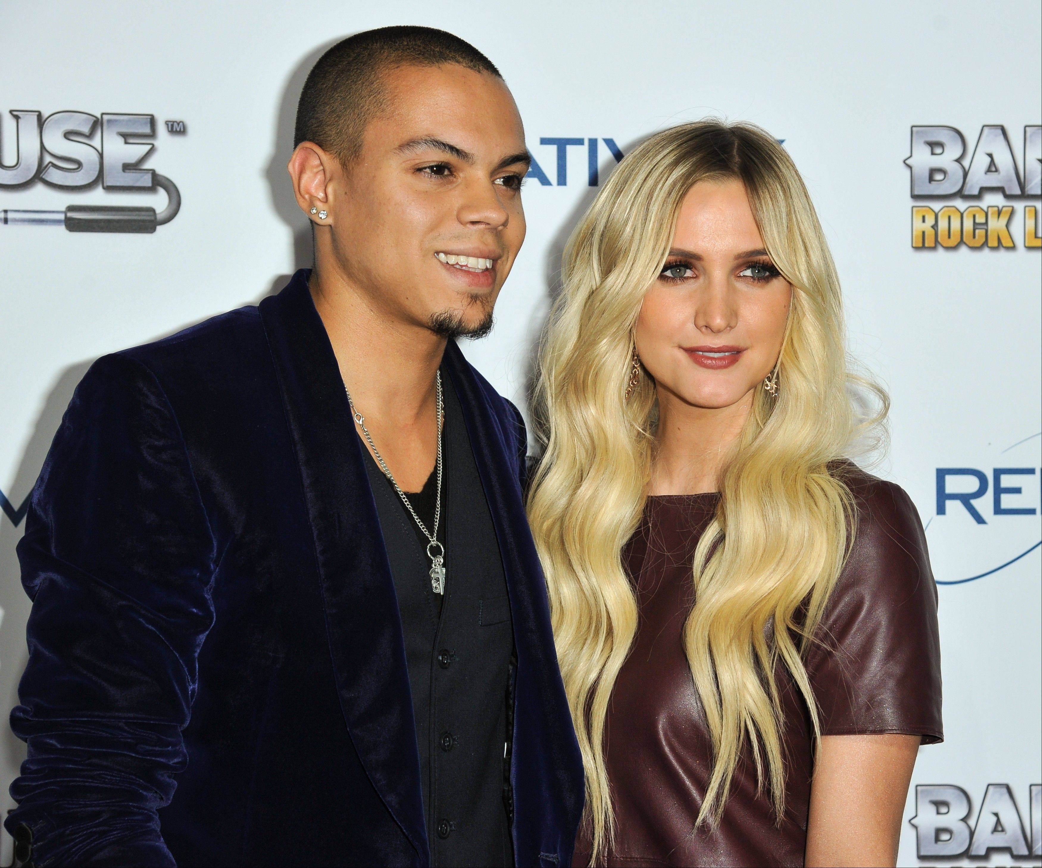 Ashlee Simpson is engaged to boyfriend Evan Ross, who is the son of Diana Ross. The pair announced the news on Twitter Monday.