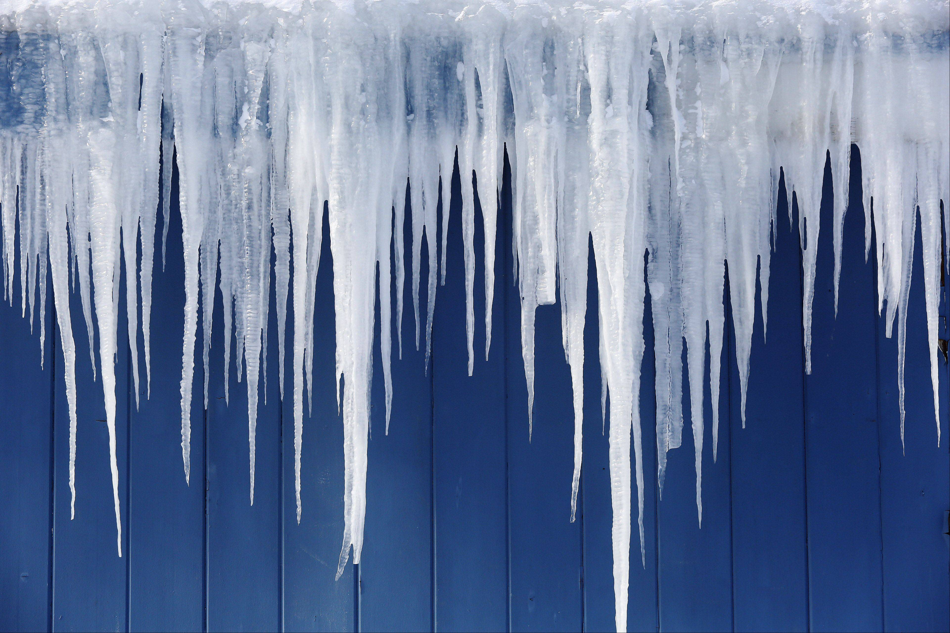 Don't shoot! Kane County sheriff's deputies had to tell a resident not to take out the icicles off his house with a gun.