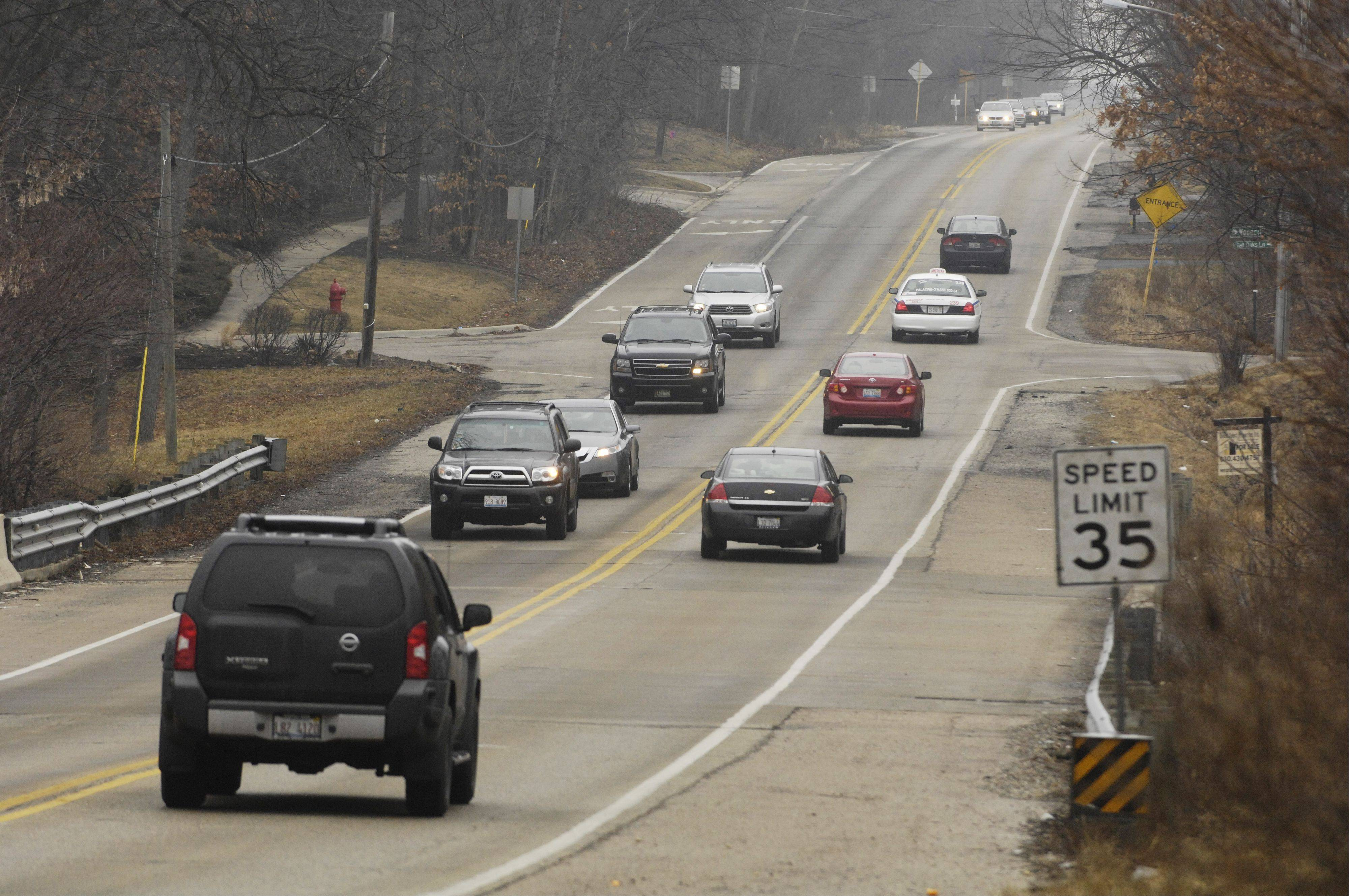 Rolling Meadows residents protest Meacham Road plan