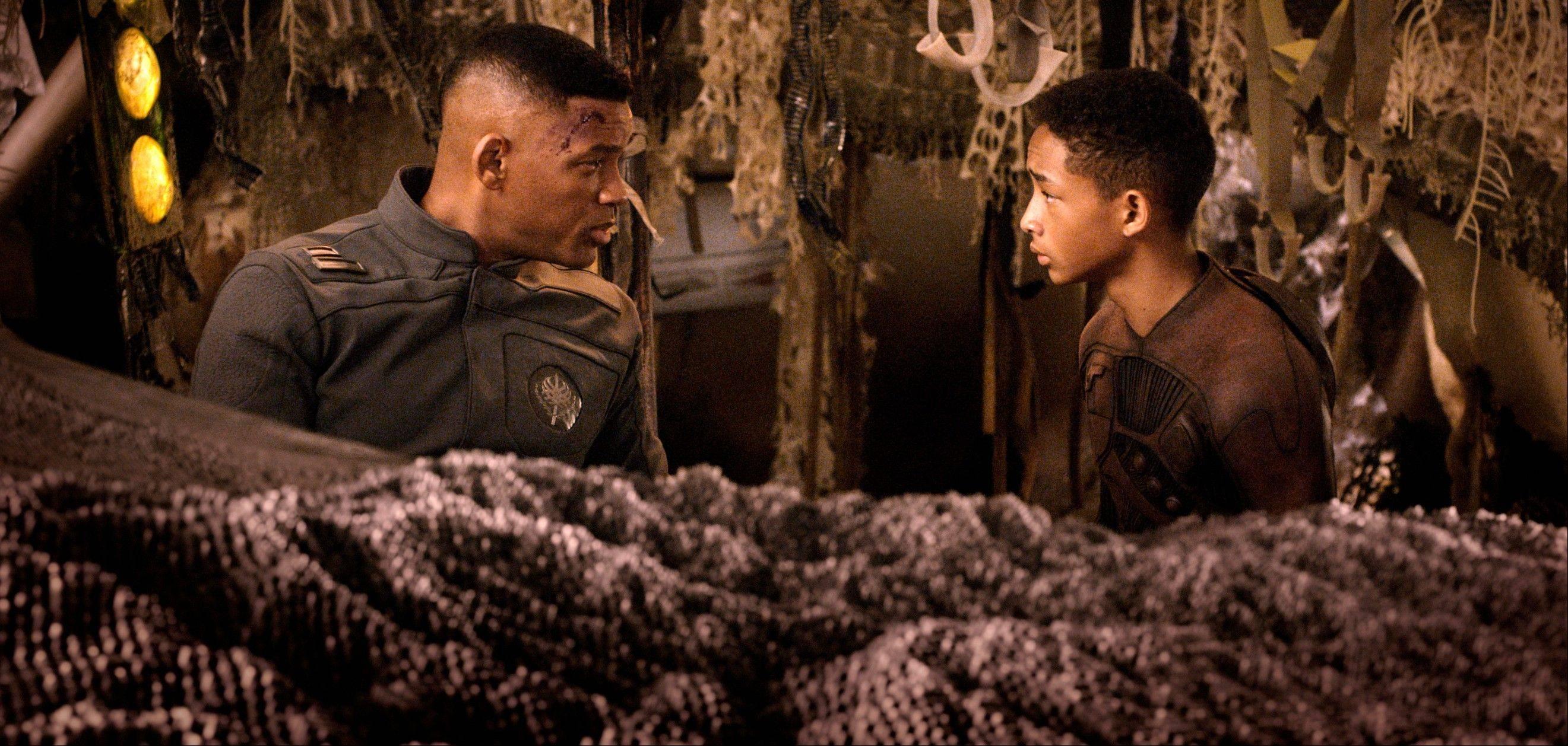 "The sci-fi coming-of-age story ""After Earth,"" starring Will Smith, left, and son Jaden, has been nominated for a worst picture Razzie."