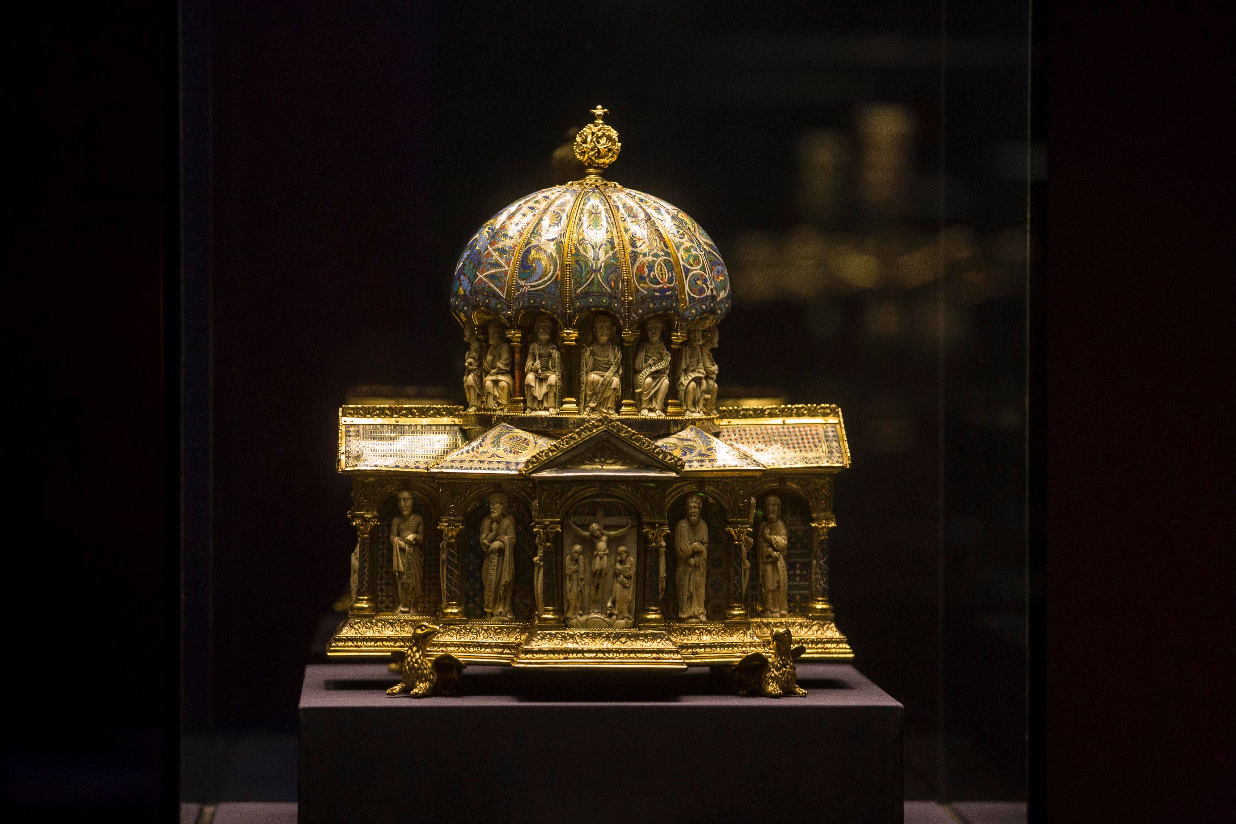 The medieval Dome Reliquary (13th century) of the Welfenschatz, at the Bode Museum.