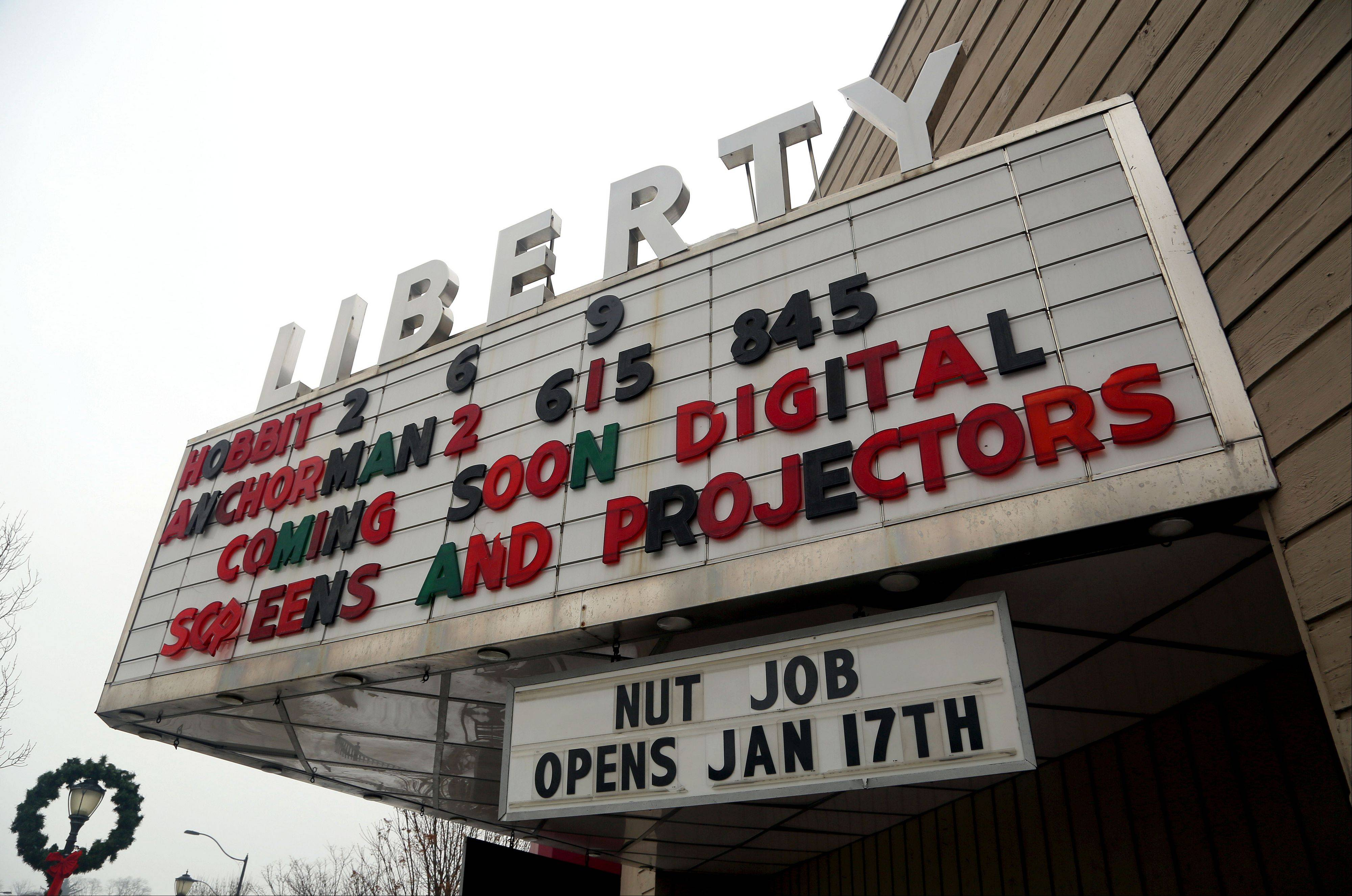 The Liberty 1 & 2 Theater in downtown Libertyville will soon have new digital projectors and screens.