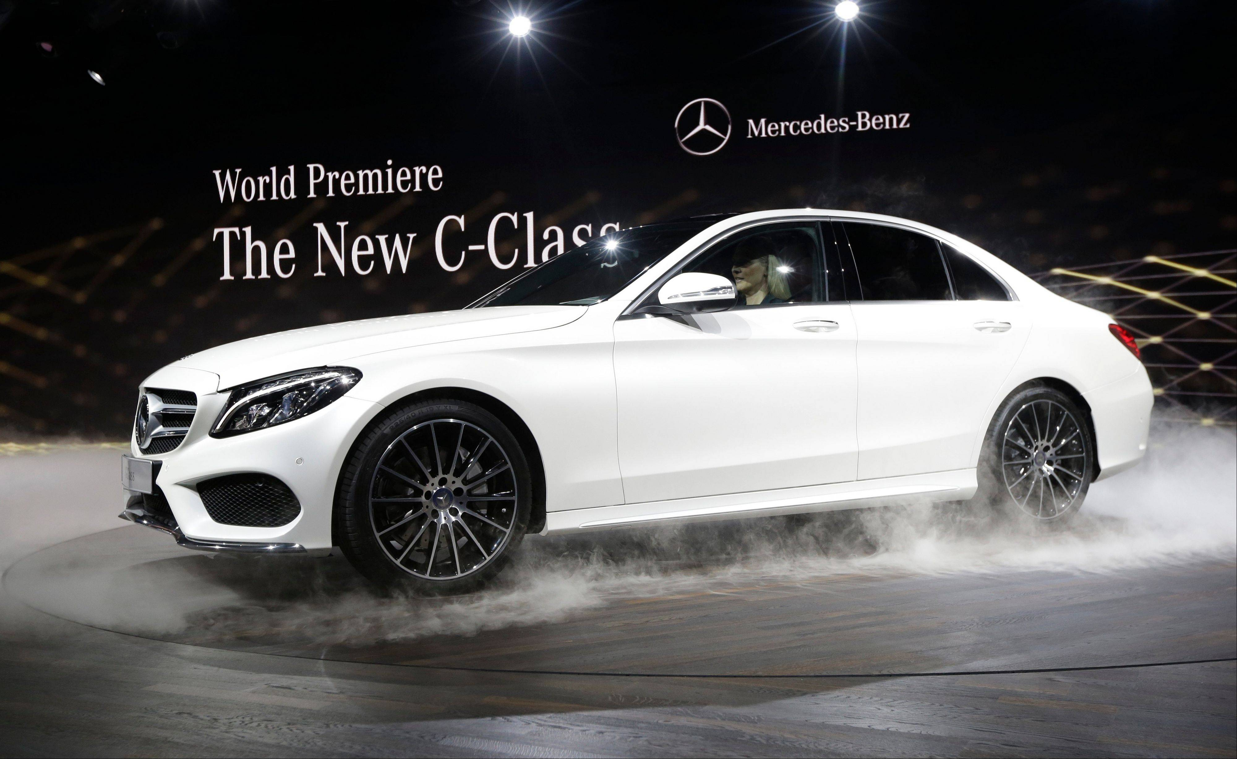 Mercedes-Benz unveils the new C-Class car during a preview night for the North American International Auto Show in Detroit this week.