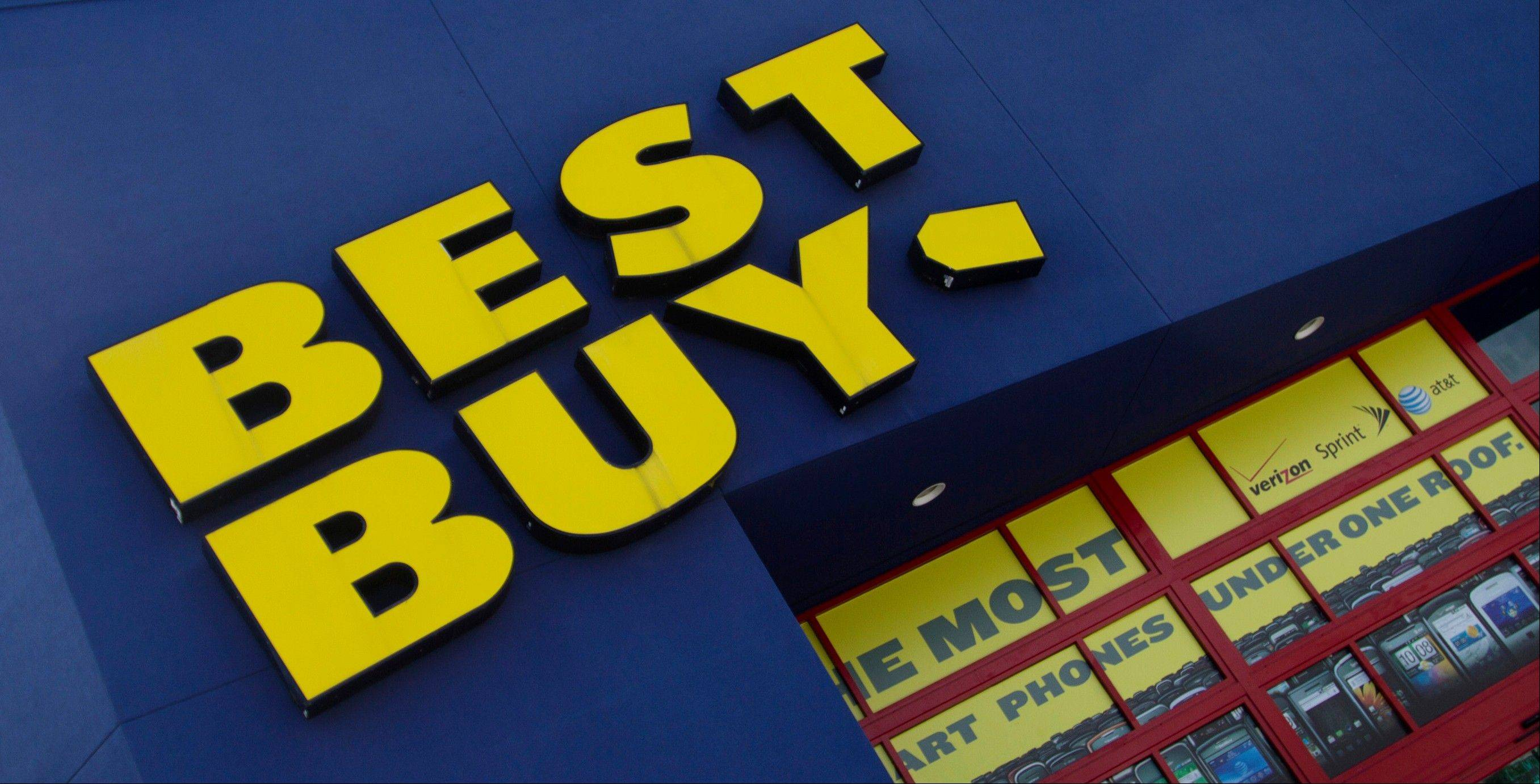 Best Buy said Thursday that a key sales barometer fell during the holiday shopping season, stung partly by weakness in the U.S. and a retail environment heavy on promotions. Its stock dropped more than 28 percent in premarket trading.