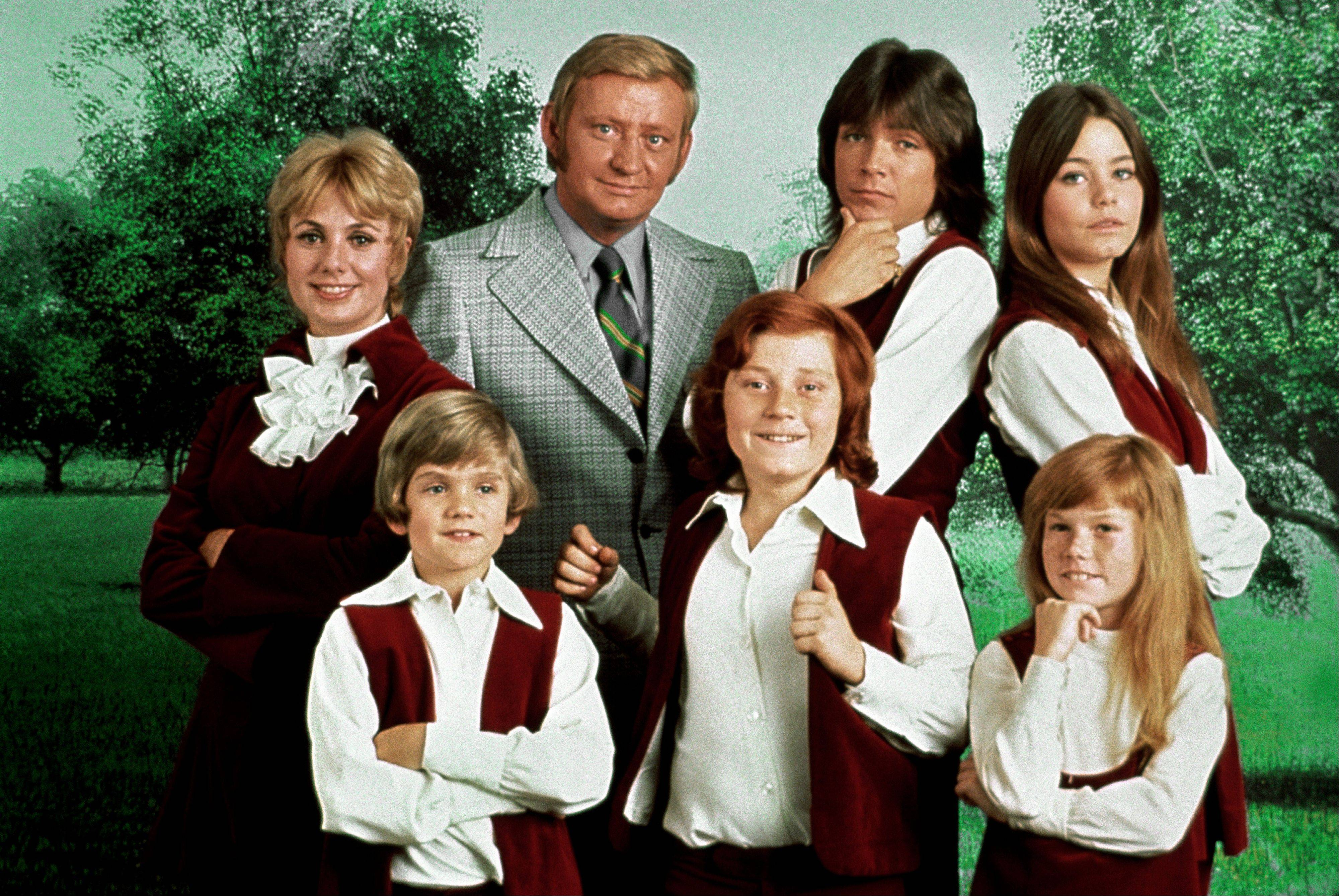This 1970 photo released by courtesy of Sony Pictures Television shows, back row, from left, cast members, Shirley Jones, Dave Madden, David Cassidy, Susan Dey, and front row, from left, Brian Forster, Danny Bonaduce and Suzanne Crough of the television series, �The Partridge Family.� Madden, who played the child-hating agent on the hit 1970s sitcom, died in Florida on Thursday at age 82.