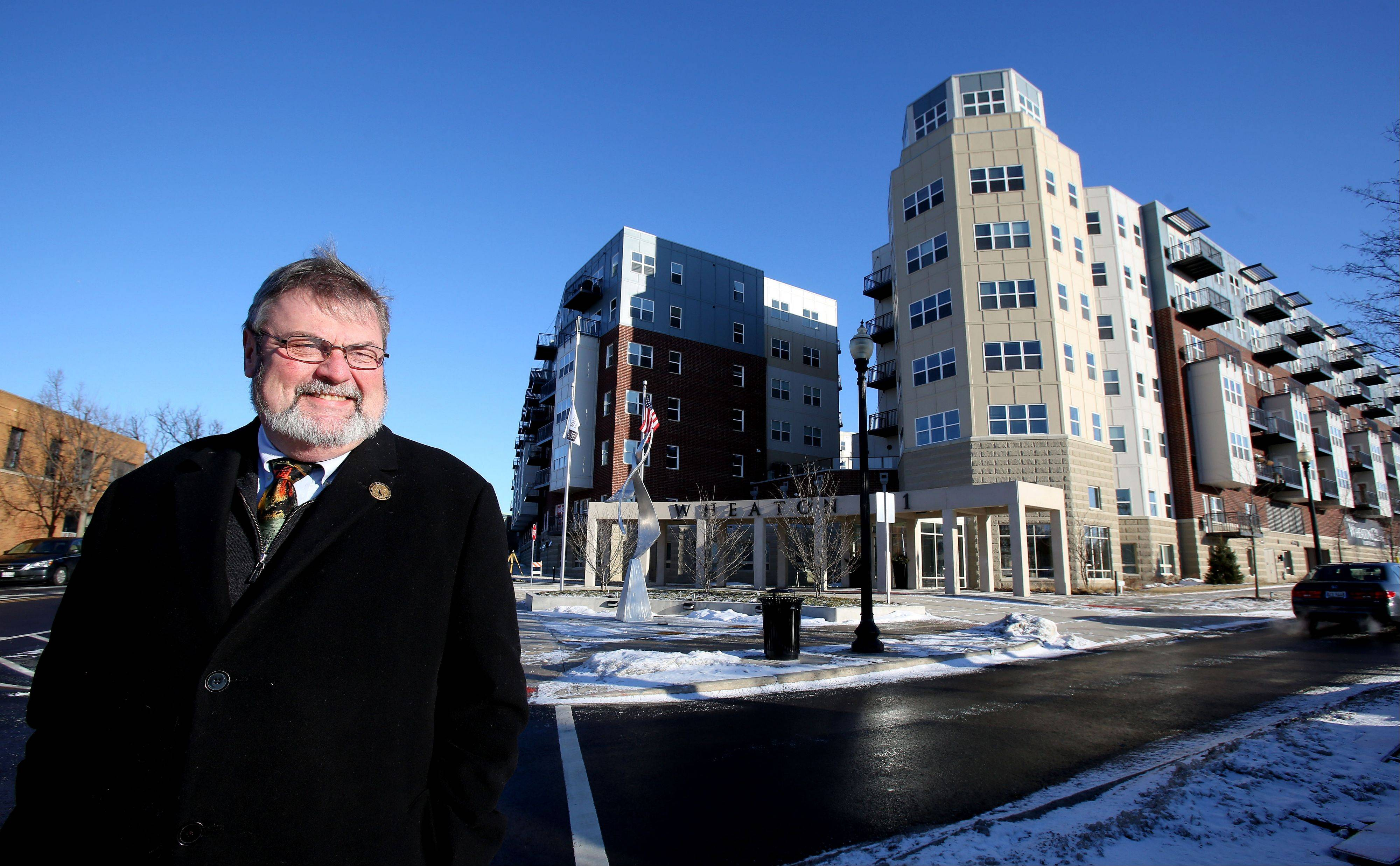Wheaton Mayor Mike Gresk says the opening of Wheaton 121, a luxury apartment development with 306 units at the corner of Cross and Front streets, was one of the highlights of the past year.