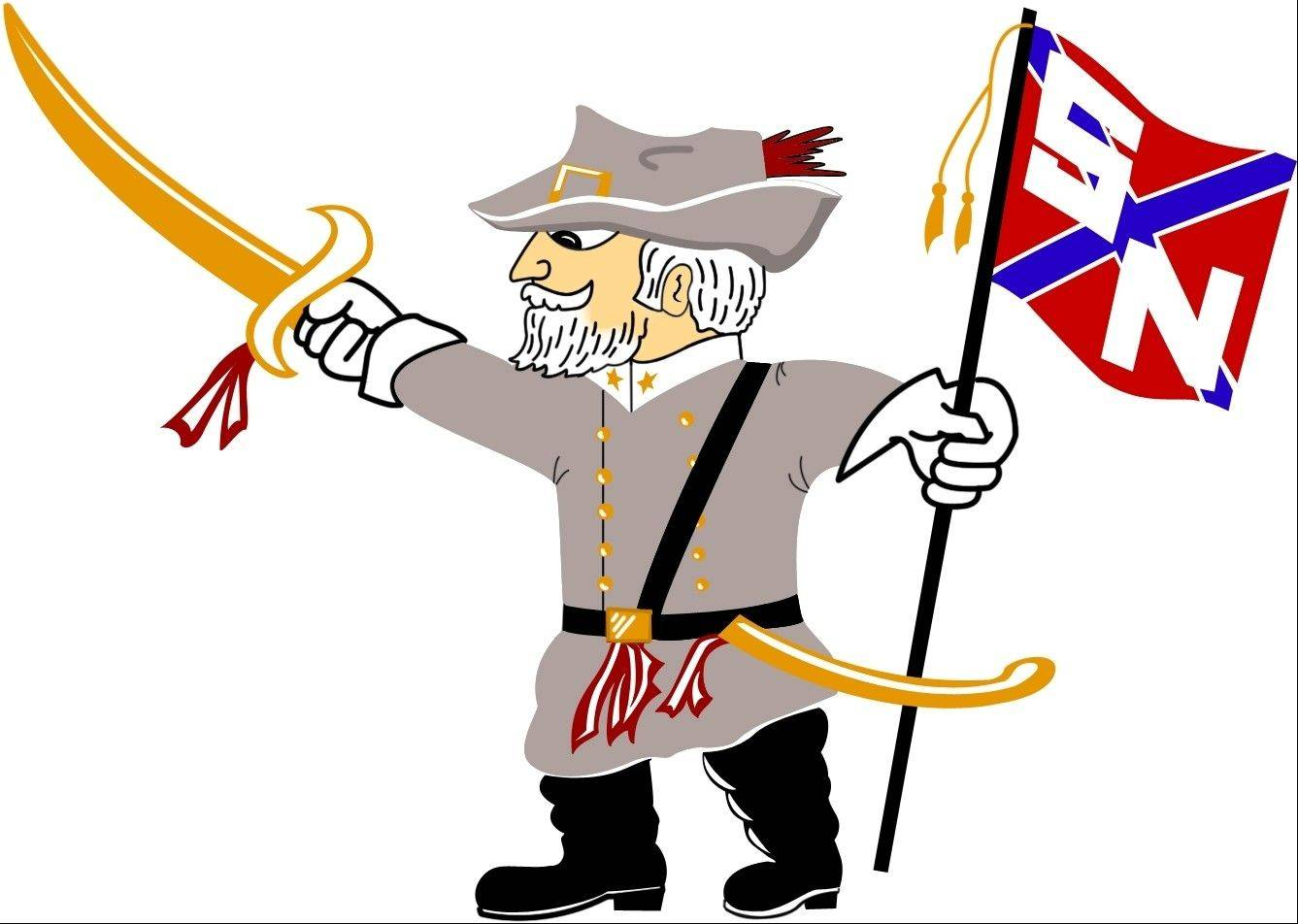 "My old high school not only had this Rebel as a mascot, we raised banners reading ""The South Will Rise Again,"" called the student newspaper the ""Stars and Bars,"" and flew a confederate flag on the school flagpole."