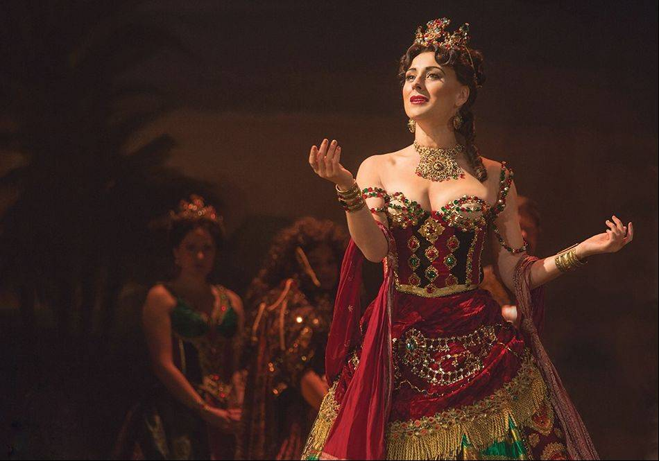 "Jacquelynne Fontaine dazzles as the displaced diva Carlotta in the new touring production of Andrew Lloyd Webber's ""The Phantom of the Opera."""