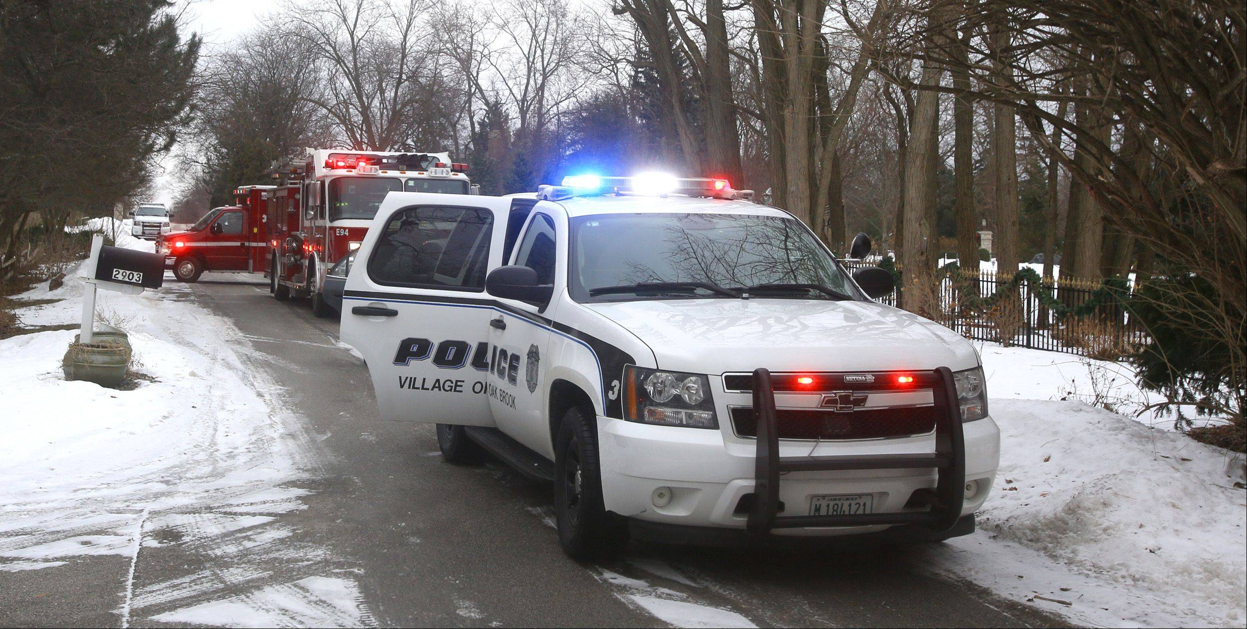 Police and fire departments from Oak Brook and surrounding suburbs are investigating a fatal carbon monoxide poisoning death in a house in a gated community on Oak Brook Hills Road, north of 31st Street.