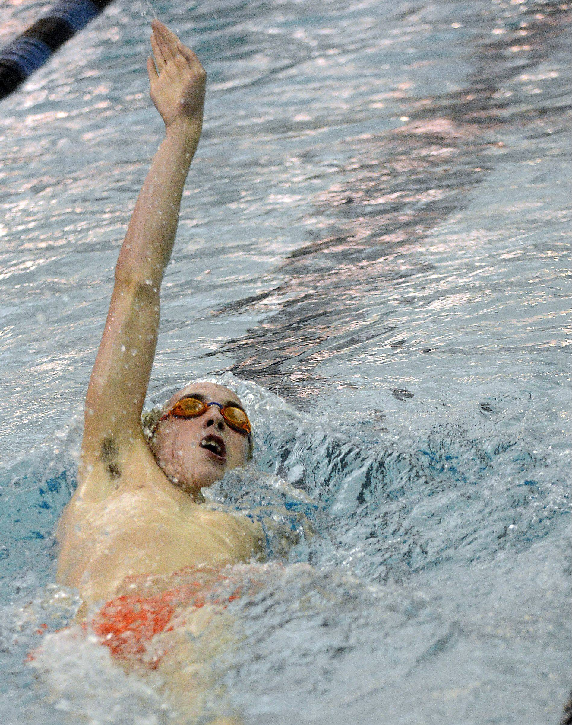 John Tarpey of St. Charles East finished second in the 200-yard IM Thursday at St. Charles North.