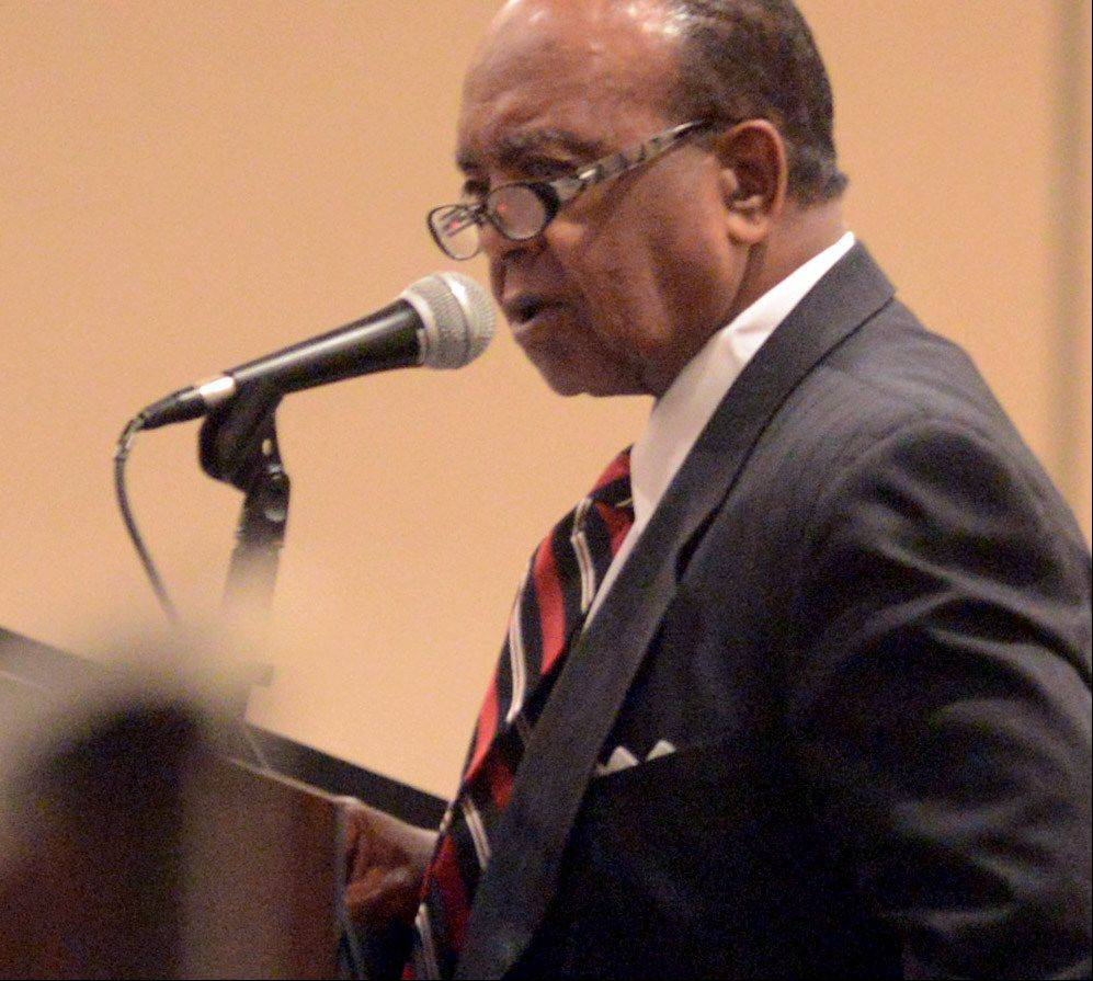 The Rev. Clyde Brooks, chairman of the Illinois Commission on Diversity and Human Relations, was recognized Friday night for dedicating 50 years of his life to fighting for racial, cultural and gender equality.