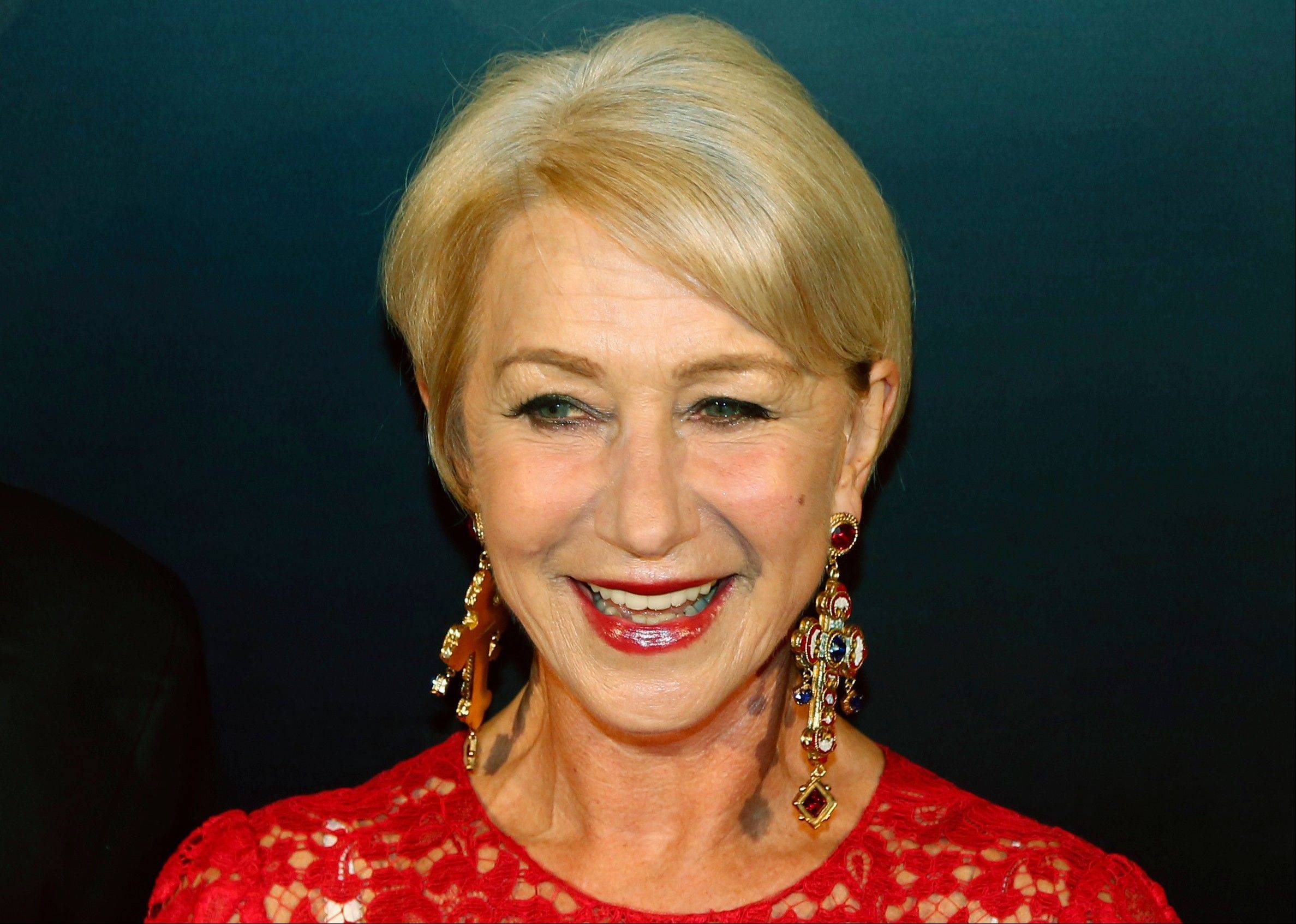 British actress Helen Mirren was named Friday, Jan. 17, 2014, as Harvard University's Hasty Pudding Theatricals 2014 Woman of the Year.