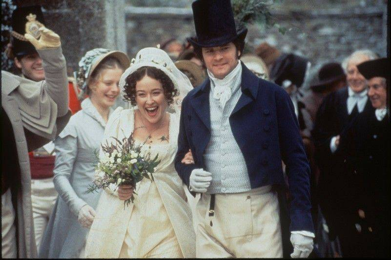 "The love story of Elizabeth Bennet (Jennifer Ehle) and Mr. Darcy (Colin Firth) plays out over several hours in A&E's ""Pride and Prejudice."""