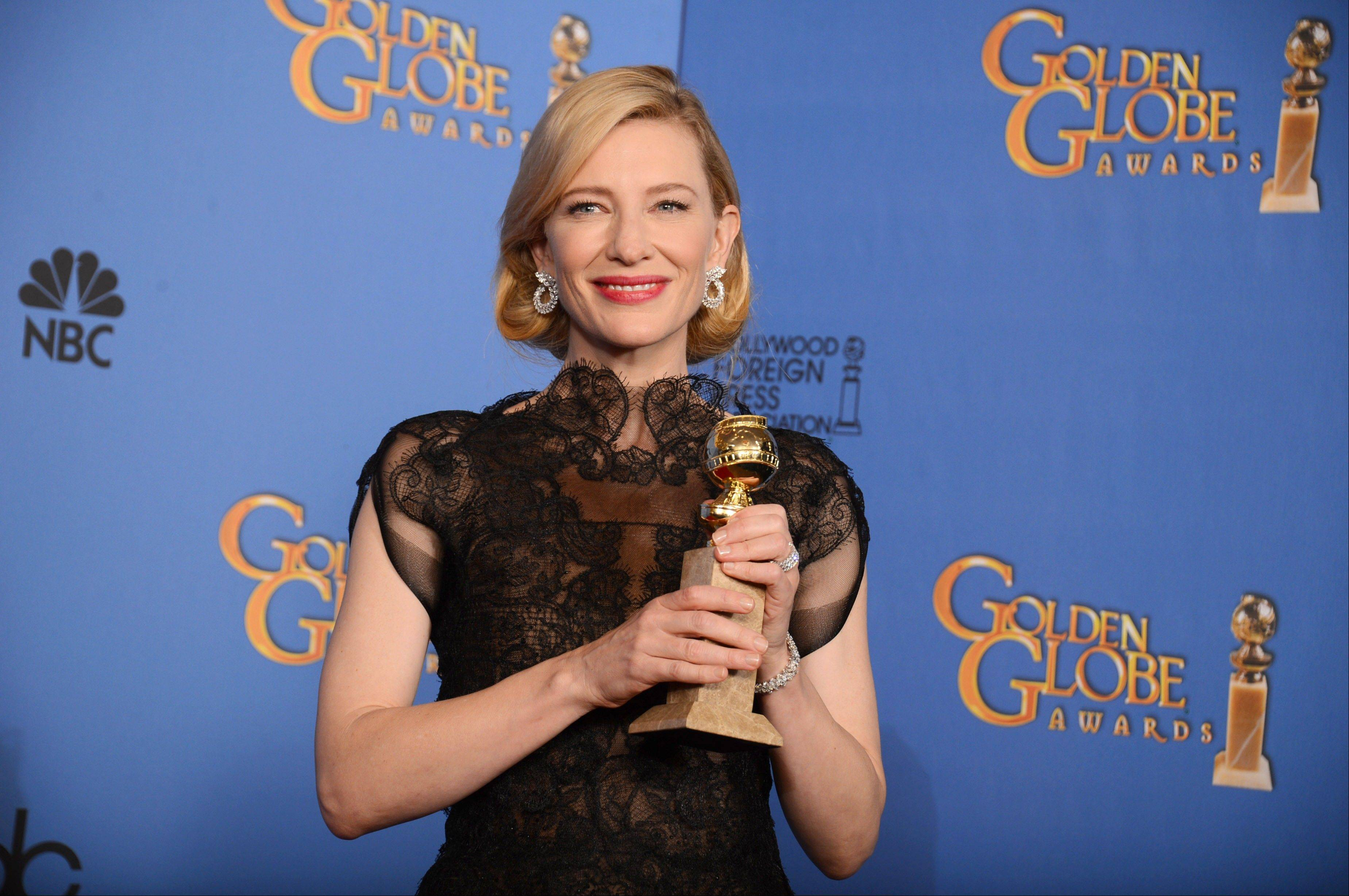 """Blue Jasmine"" star Cate Blanchett won the Golden Globe Jan. 12 for best actress in a drama."