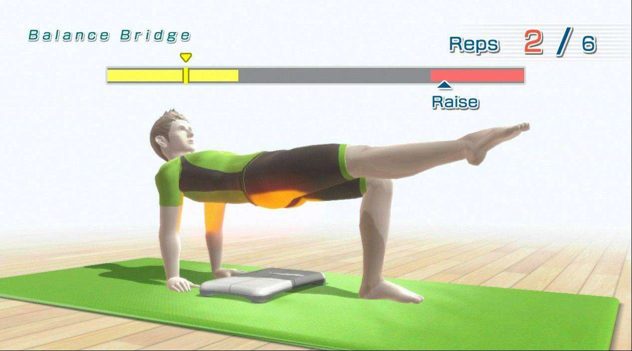 "A scene from the video game, ""Wii Fit U"". Even with new titles including ""Pikmin 3,"" Nintendo failed to capitalize on U.S. video-game product sales that surged to their highest in three years in December."