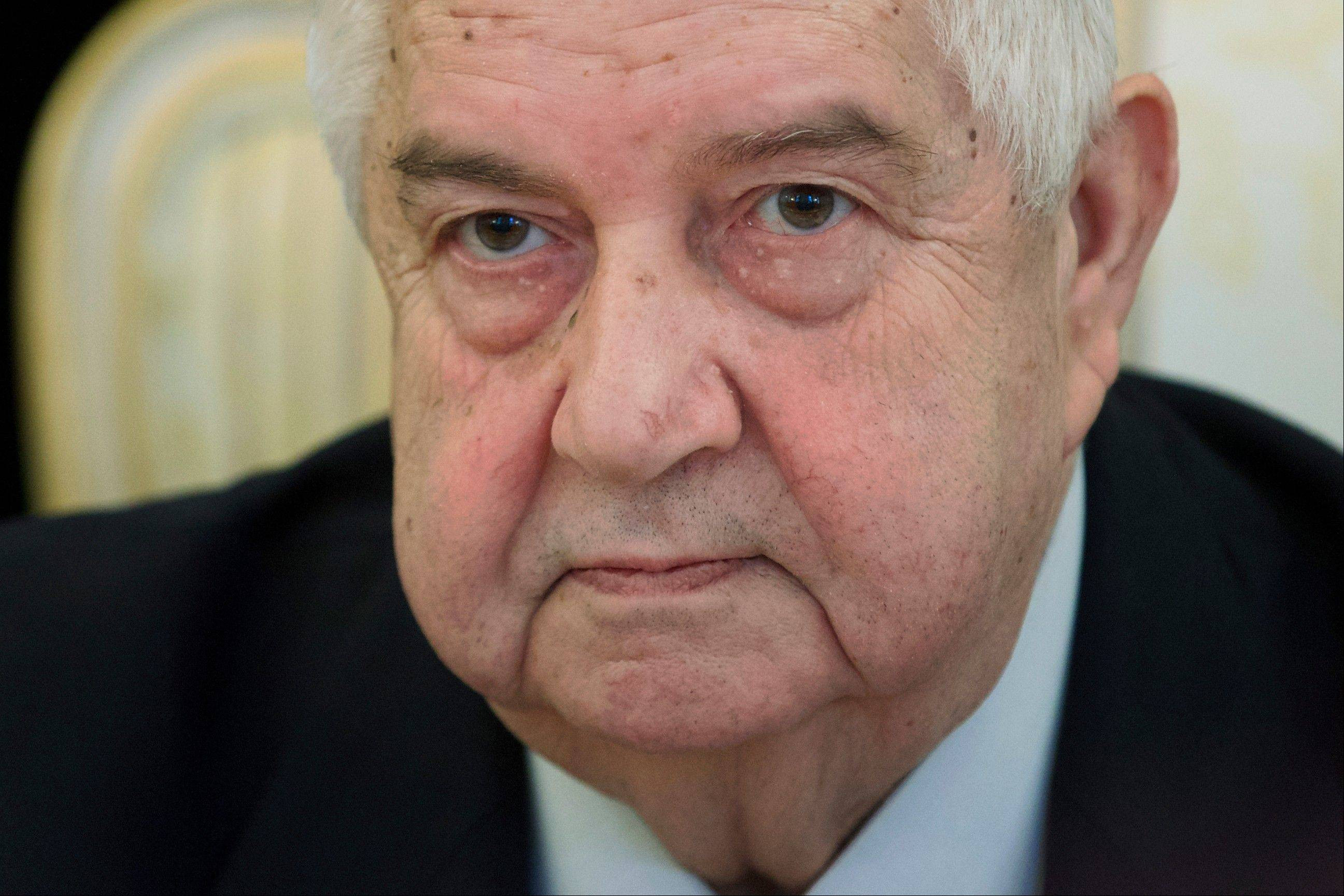 Syrian Foreign Minister Walid al-Moallem said Friday that his country is prepared to implement a cease-fire in the war-torn city of Aleppo and exchange detainees with the country's opposition forces as confidence building measures ahead of a peace conference opening next week in Switzerland.