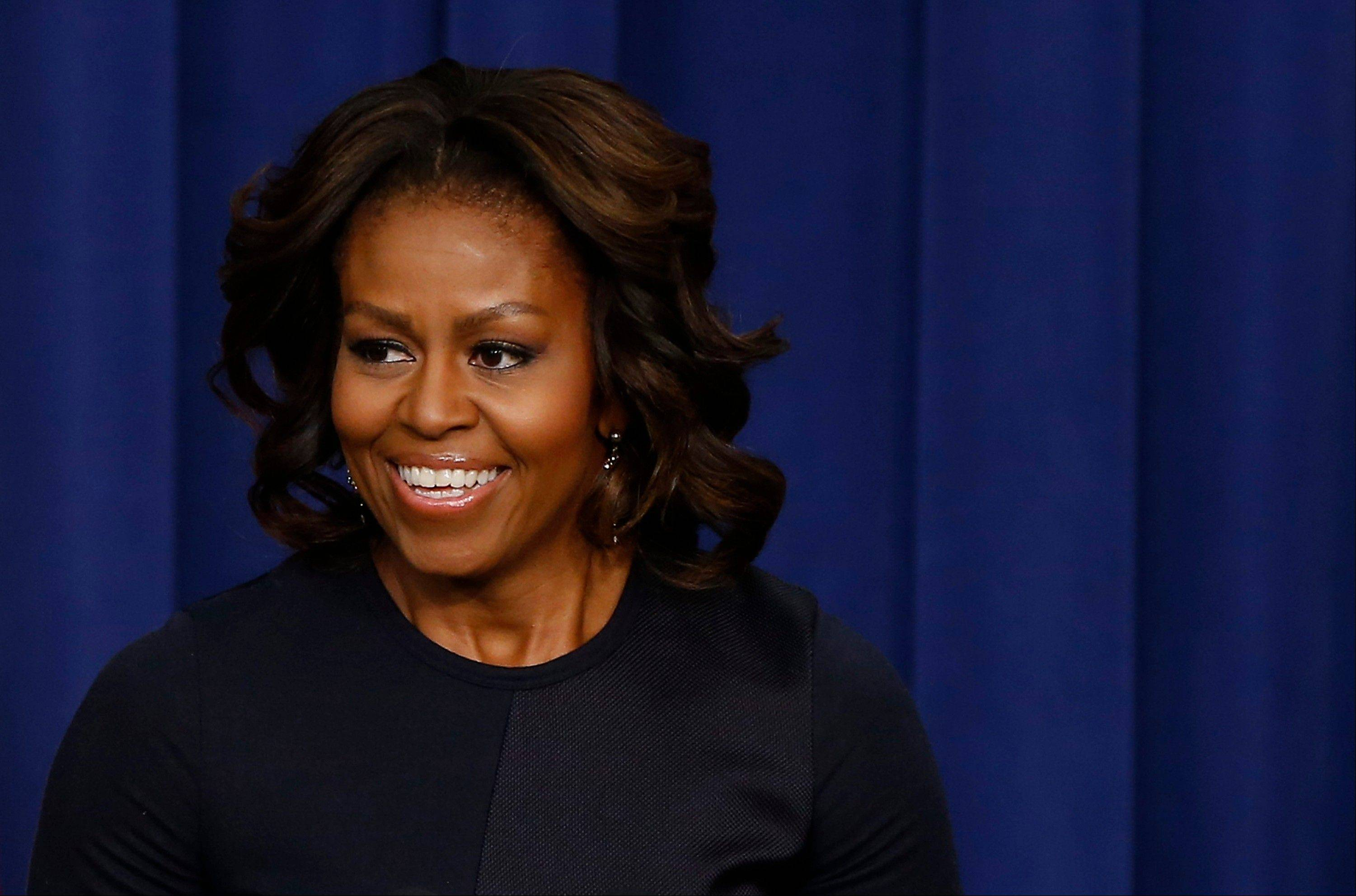 First lady is celebrating her 50th birthday Friday. The first lady was spending the day out of sight, with no scheduled public appearances after back-to-back events at the White House this week. A big birthday bash is on tap for Saturday night at the White House. President Barack Obama has been involved in planning it.
