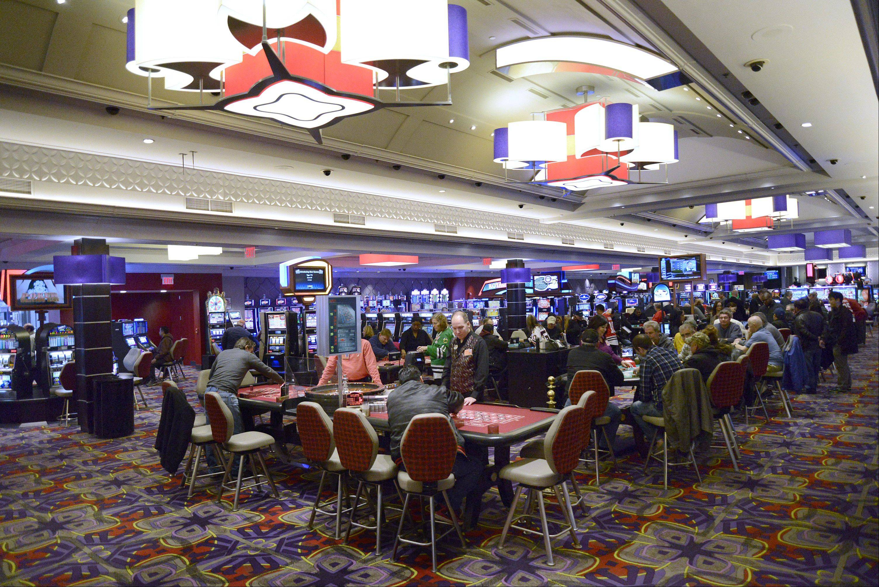 The Grand Victoria Casino in Elgin has finished renovations in its casino area. This is on the main casino floor.