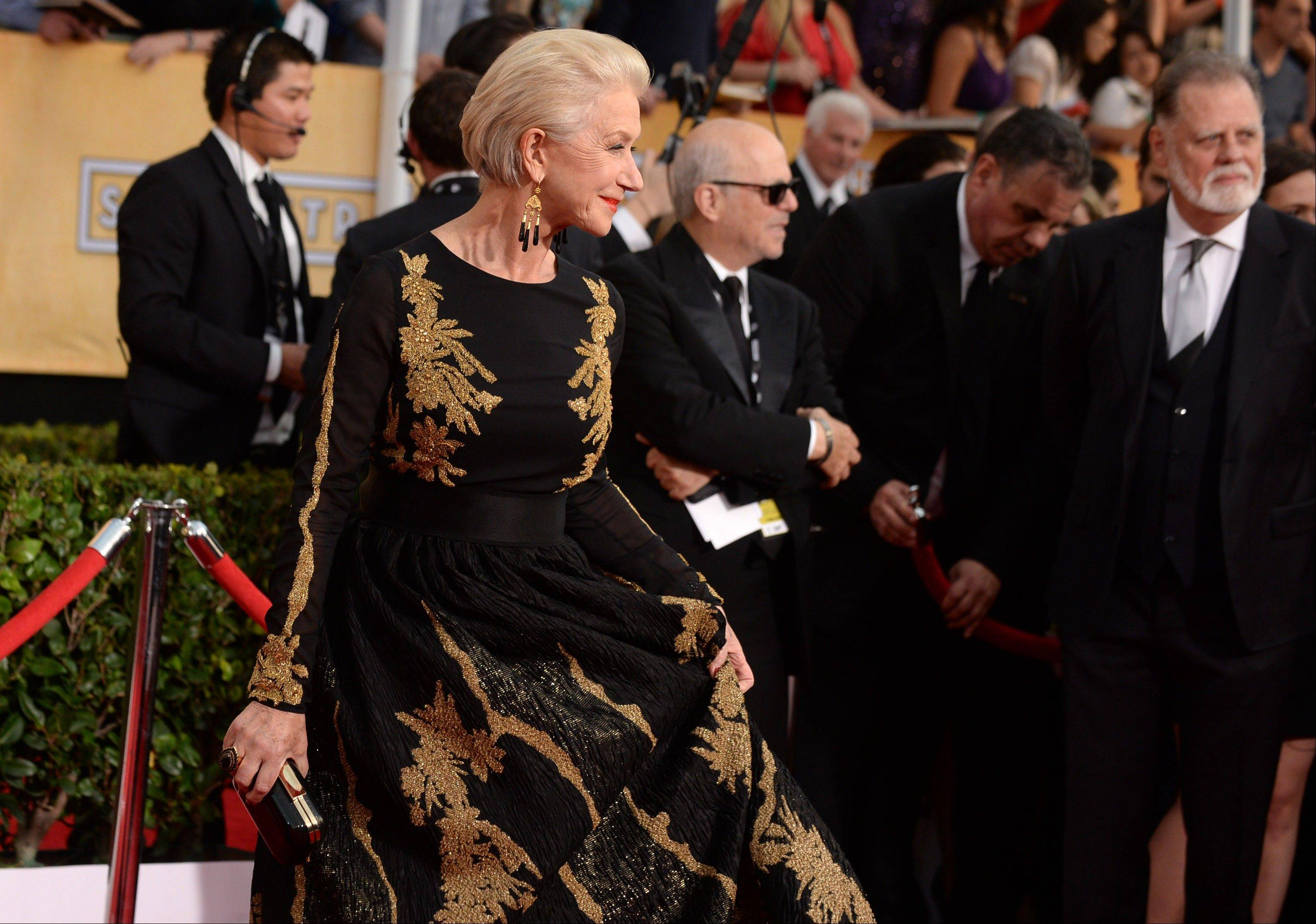 Helen Mirren arrives at the 20th annual Screen Actors Guild Awards.