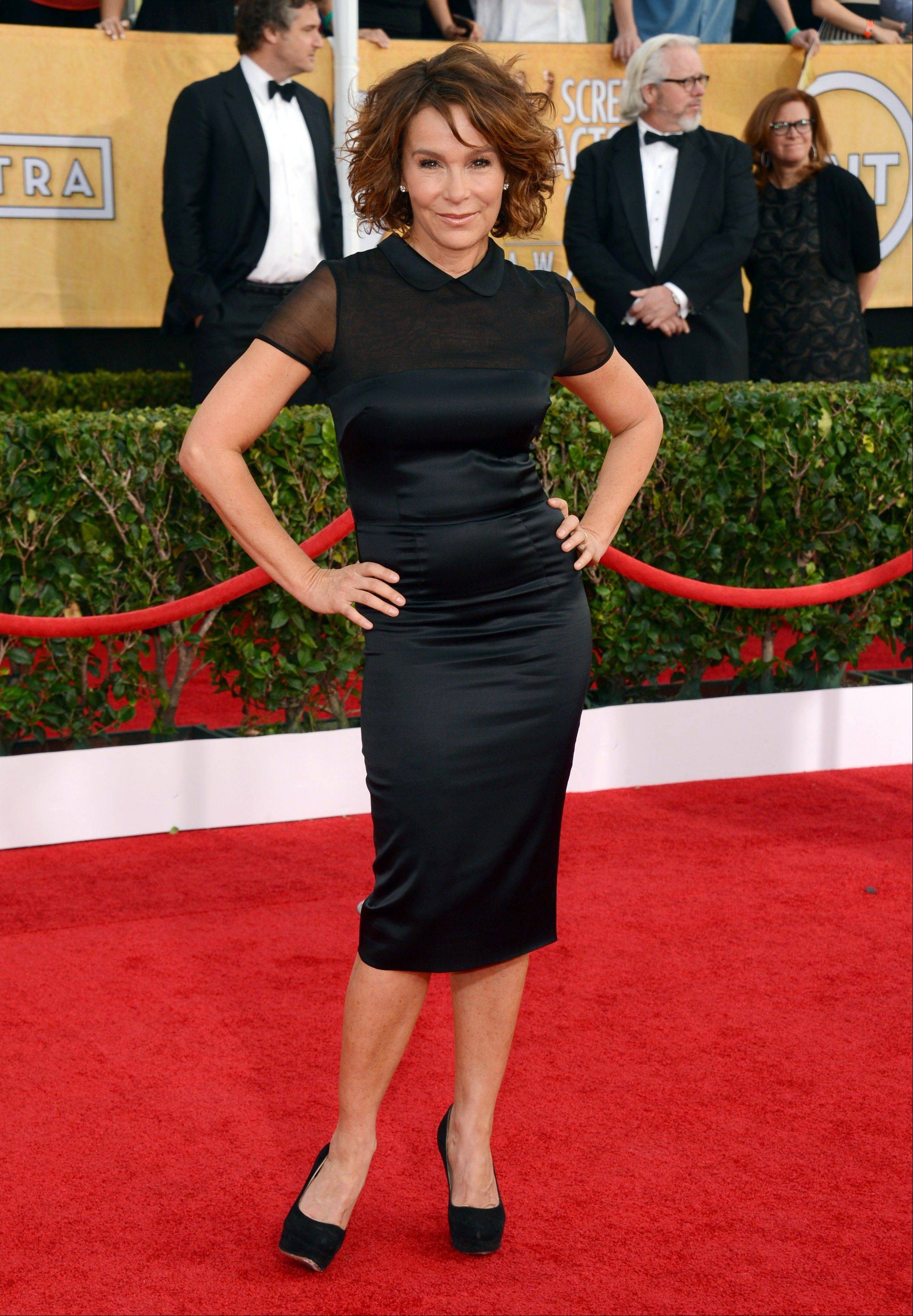 Jennifer Grey arrives at the 20th annual Screen Actors Guild Awards.