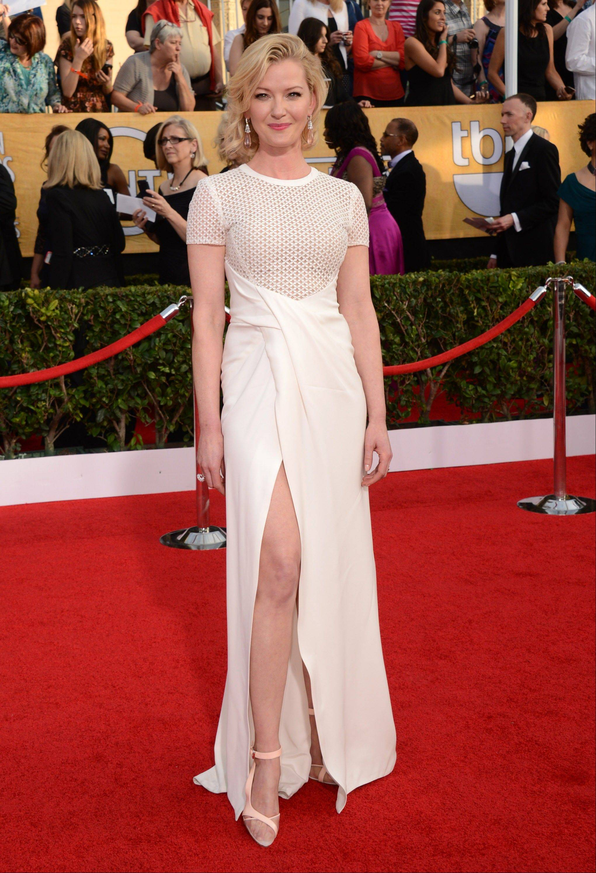 Gretchen Mol arrives at the 20th annual Screen Actors Guild Awards.
