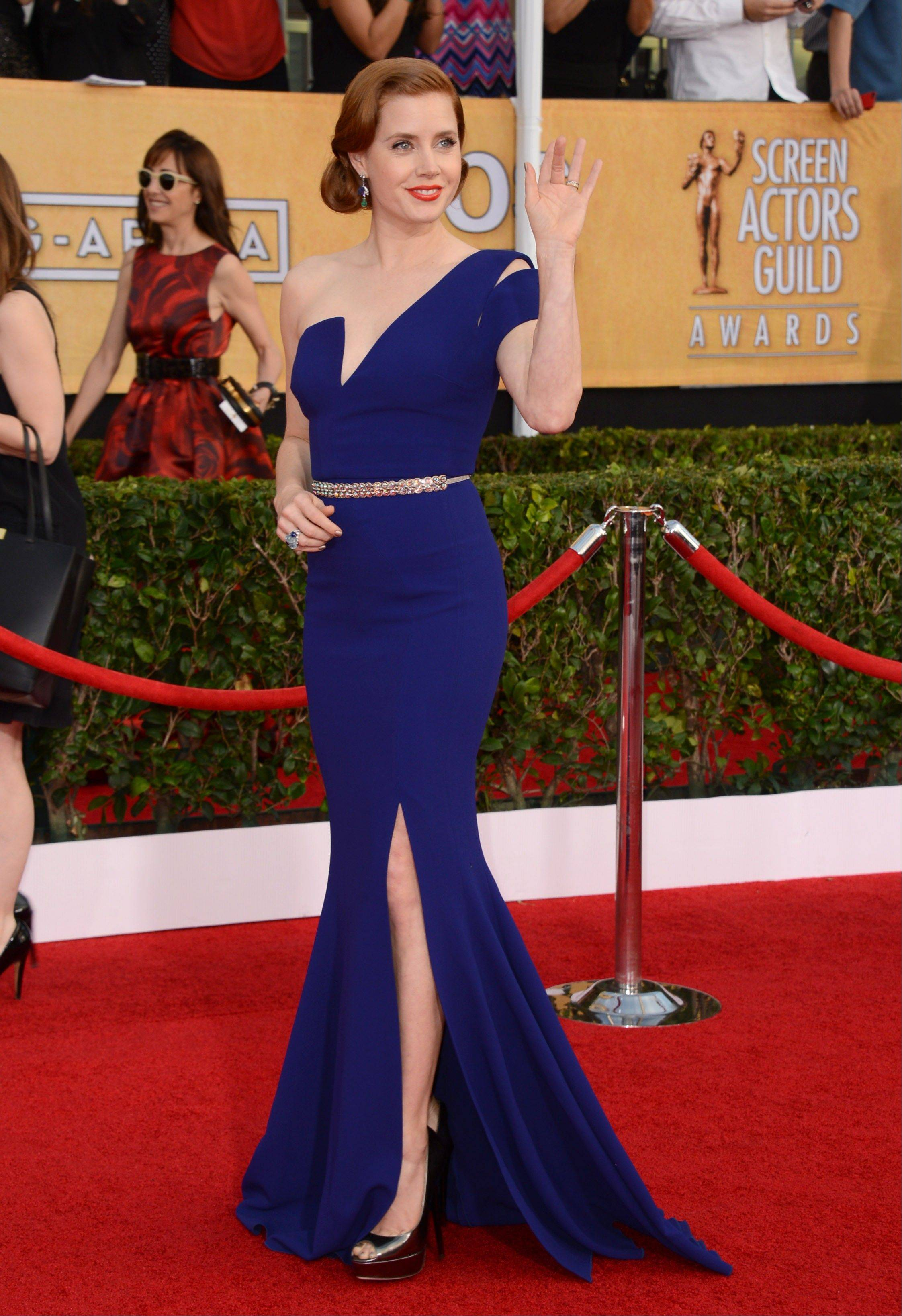 Amy Adams arrives at the 20th annual Screen Actors Guild Awards.