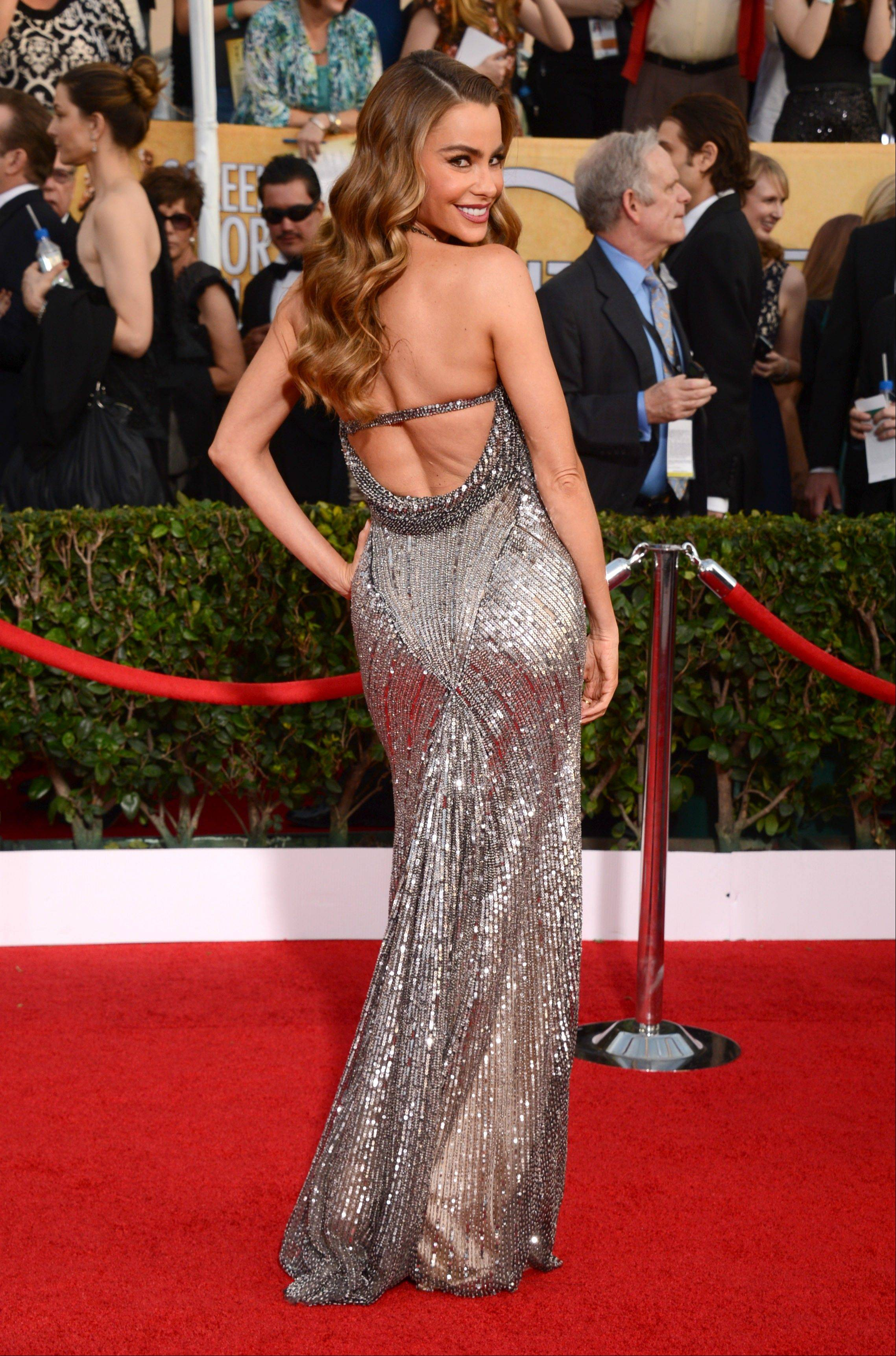 Sofia Vergara arrives at the 20th annual Screen Actors Guild Awards.