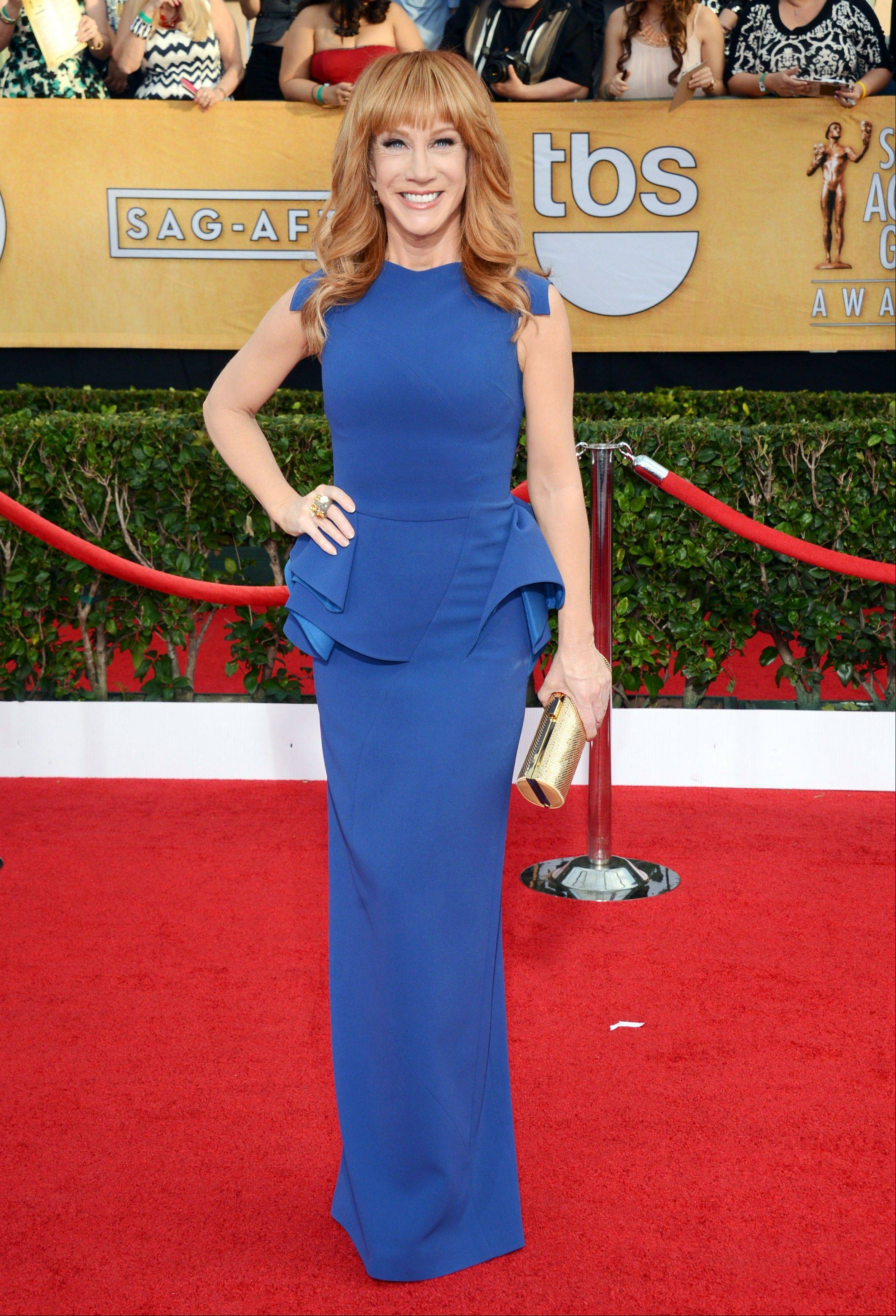 Kathy Griffin arrives at the 20th annual Screen Actors Guild Awards.