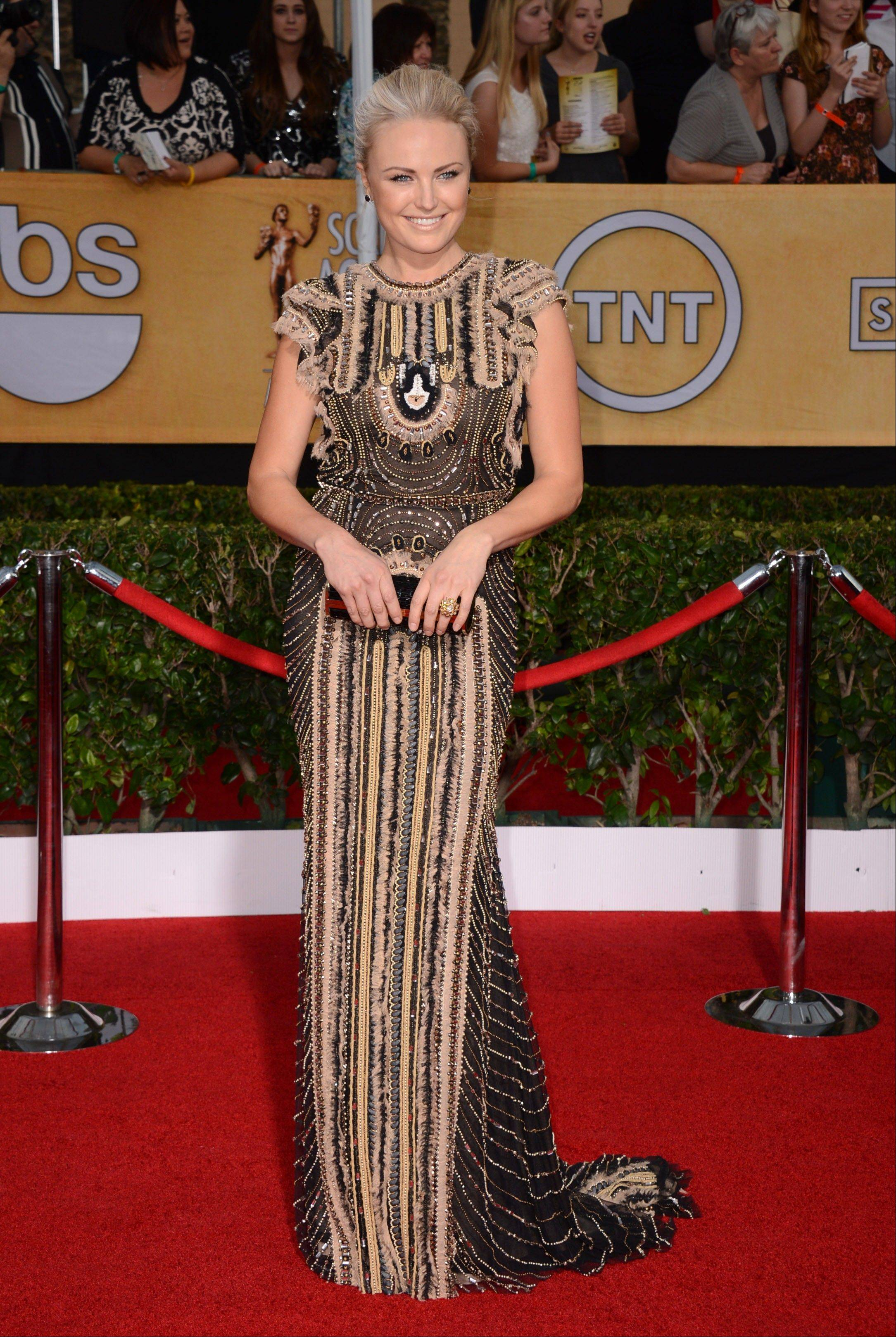 Malin Akerman arrives at the 20th annual Screen Actors Guild Awards.