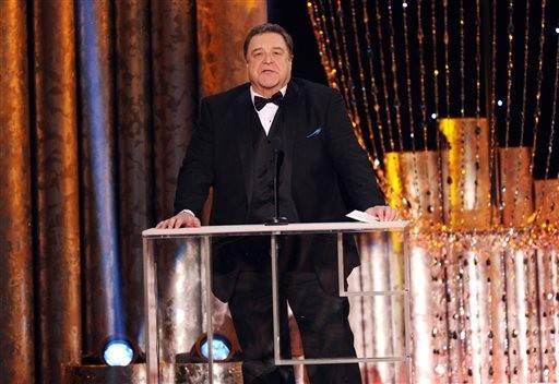 John Goodman presents an award during the SAG Awards.