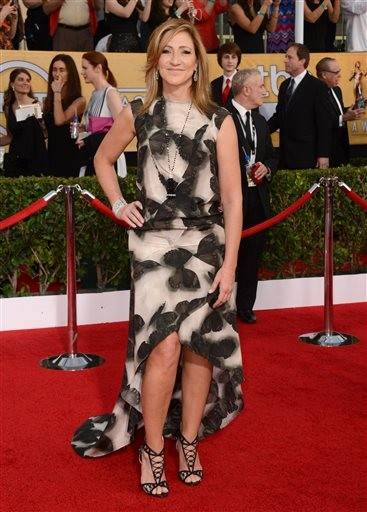 "Edie Falco is that you? The ""Nurse Jackie"" star gets a little lost in this dizzying ensemble."