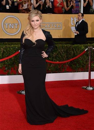Abigail Breslin is all grown up in her gown for the SAG Awards.