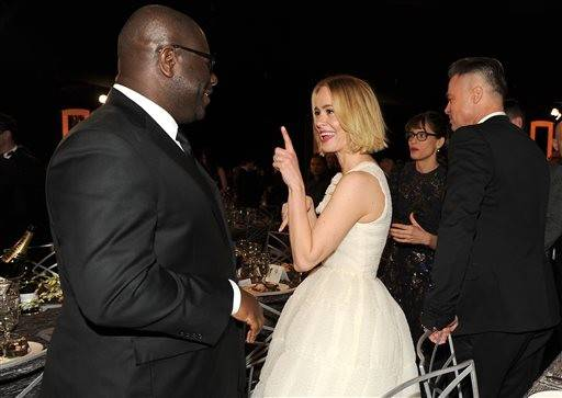 "Actress Sarah Paulson has a little fun with ""12 Years a Slave"" director Steve McQueen."