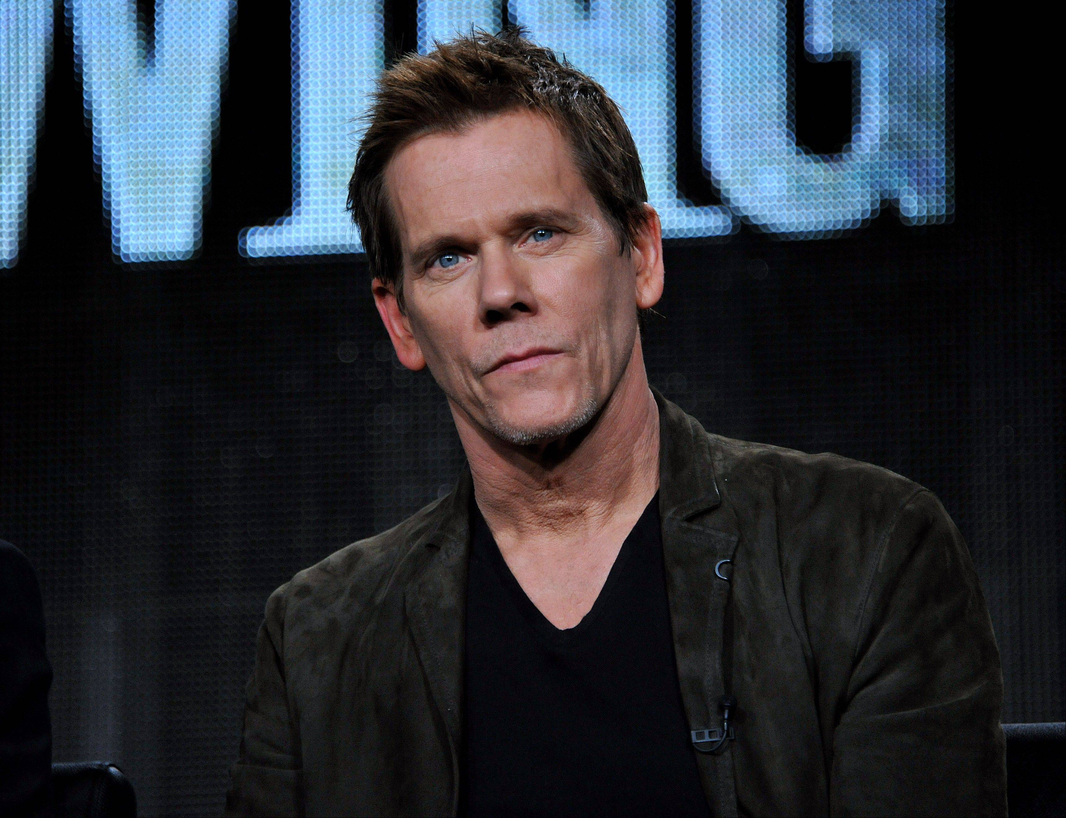 "Kevin Bacon at the panel for ""The Following"" at the FOX Winter 2014 TCA Monday at the Langham Hotel in Pasadena, Calif. The two stars of Fox's creepy thriller ""The Following"" admit that their show gives them nightmares. Bacon and James Purefoy both said today that the characters stick with them after work."