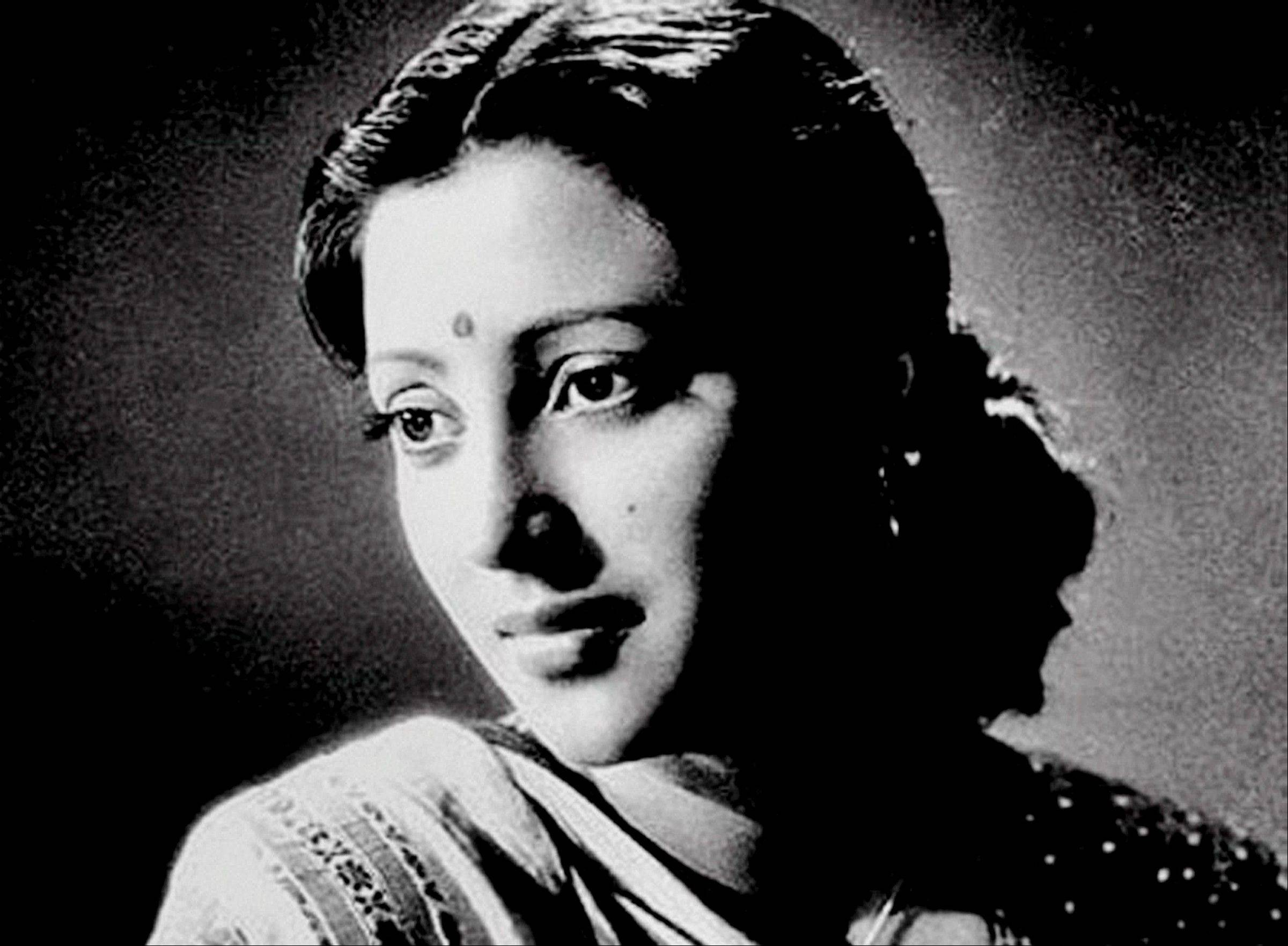This undated photo, shows Indian Bollywood actress Suchitra Sen in India.